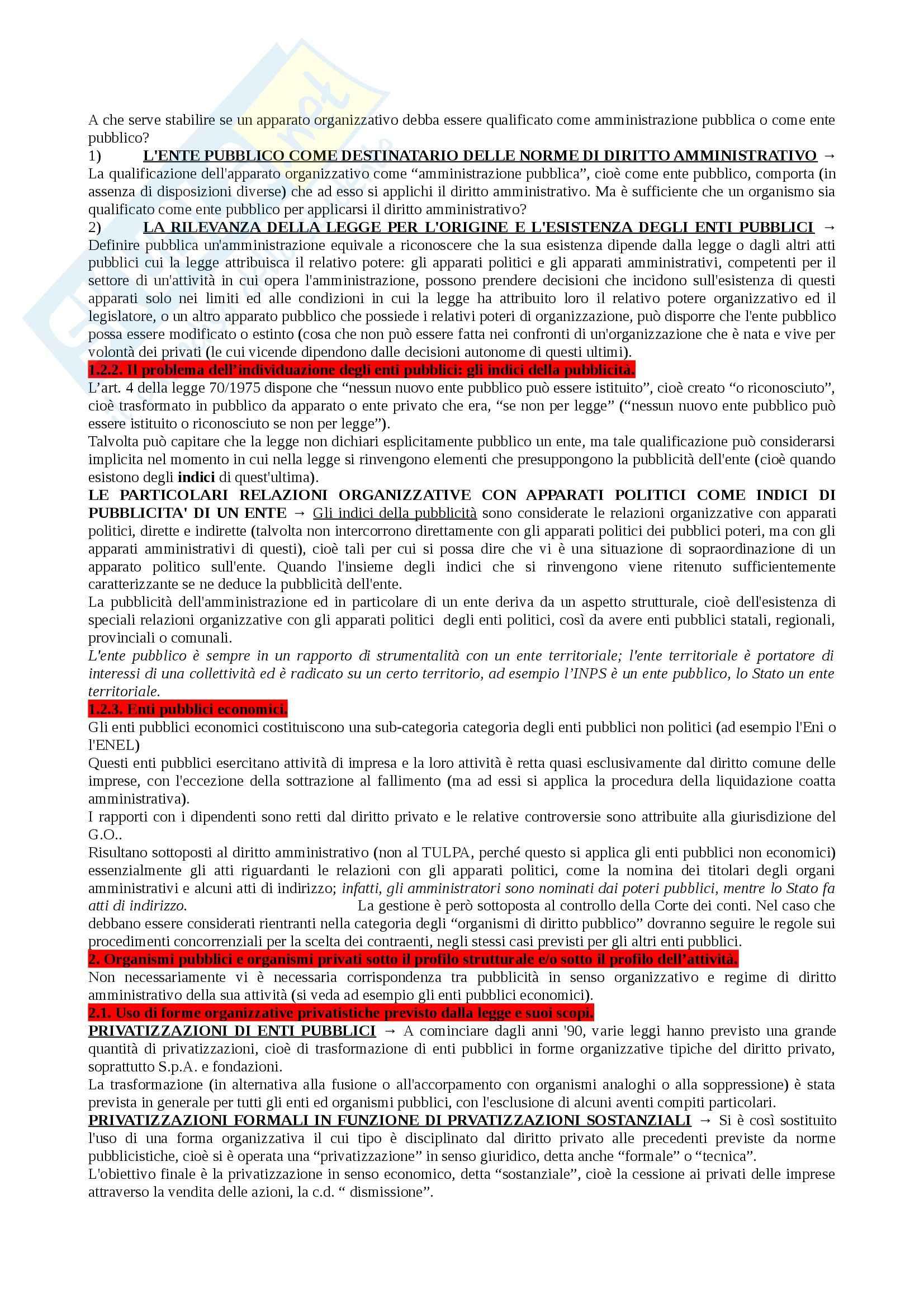 Riassunto esame Diritto Amministrativo I, prof. Marzuoli, libro consigliato Diritto delle Amministrazioni Pubbliche di Sorace Pag. 76