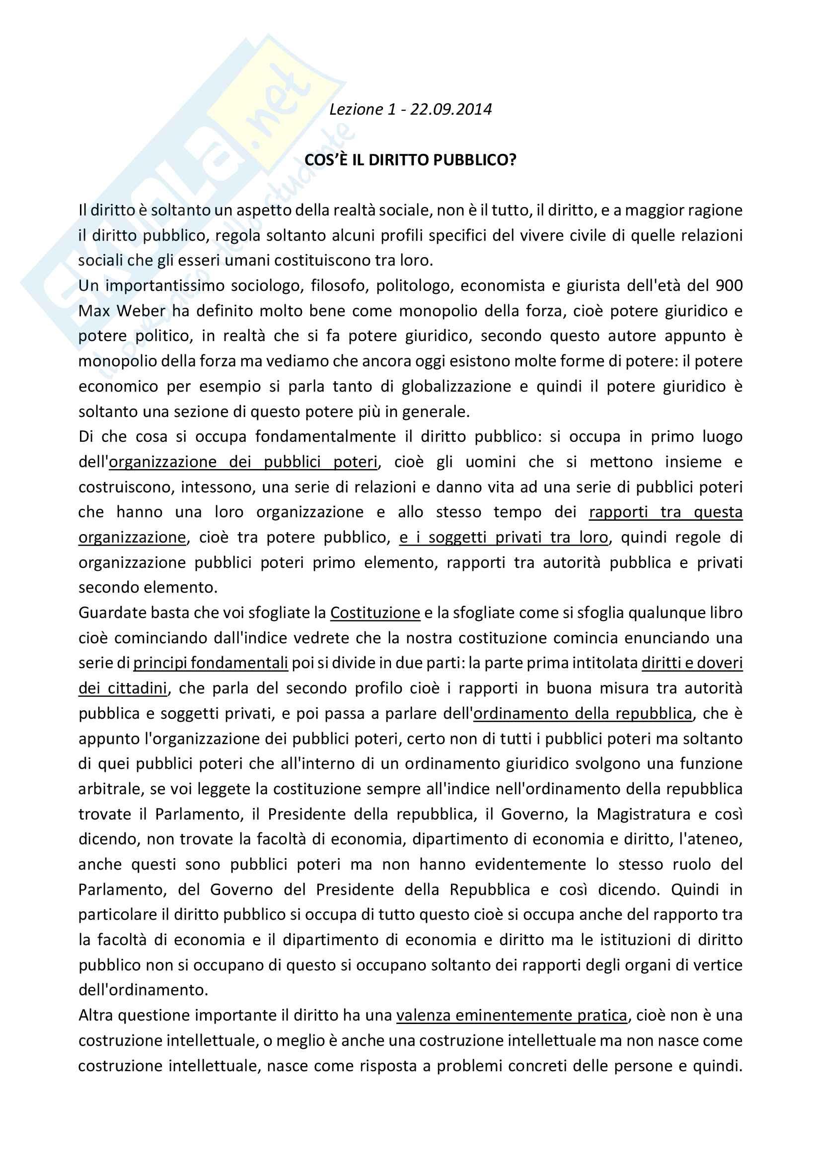 Istituzioni di diritto pubblico prof. Benvenuti