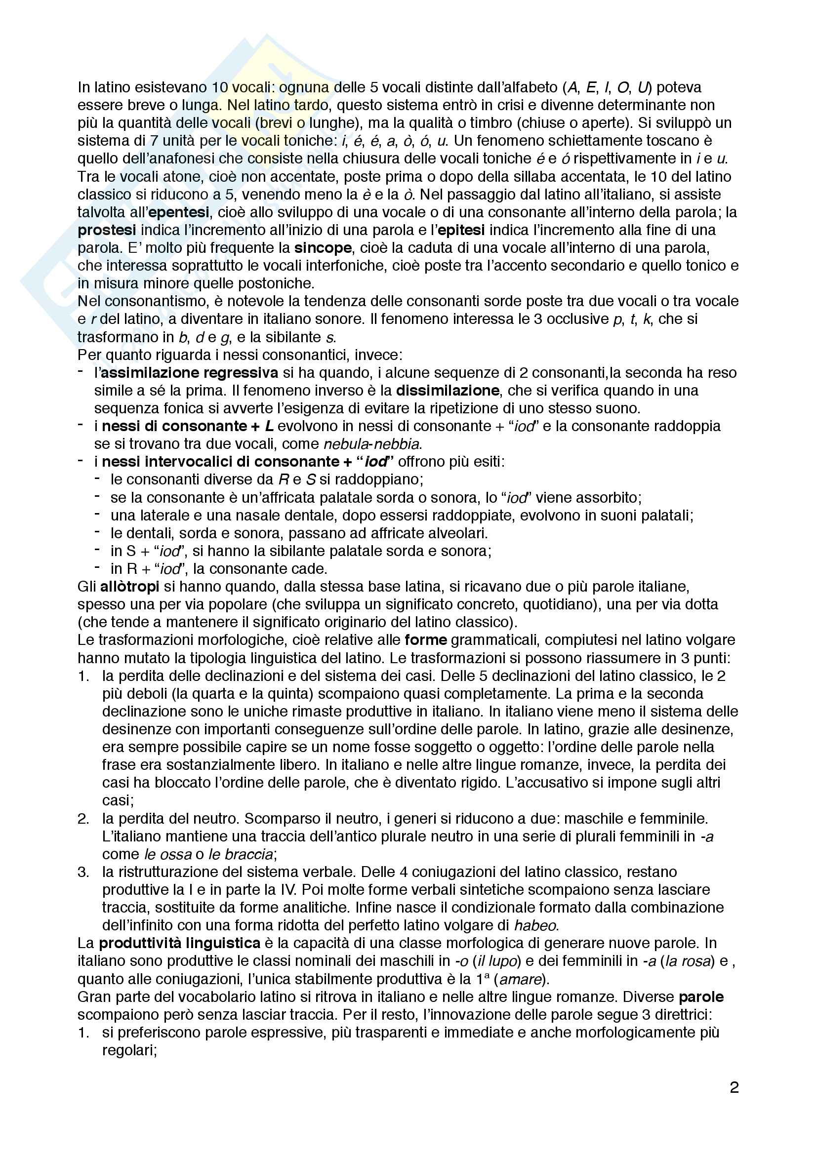 """Riassunto esame Linguistica italiana, prof.ssa Raffaella Setti, libro consigliato """"Manuale di linguistica italiana. Storia, attualità, grammatica"""", Serianni Luca, Antonelli Giuseppe Pag. 2"""