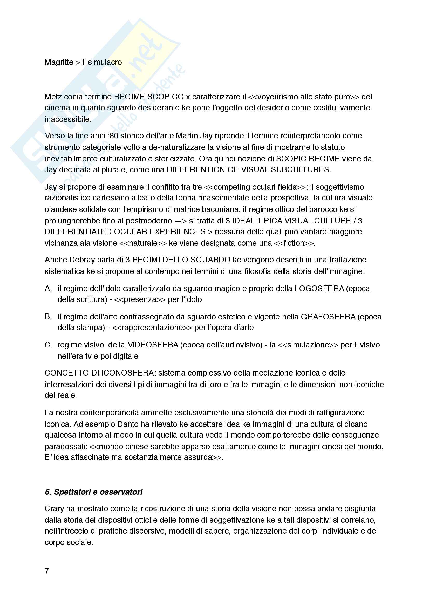 Riassunto esame Teoria della Rappresentazione e dell'Immagine, prof. Pinotti, Libro consigliato Cultura Visuale, Pinotti e Somaini Pag. 36
