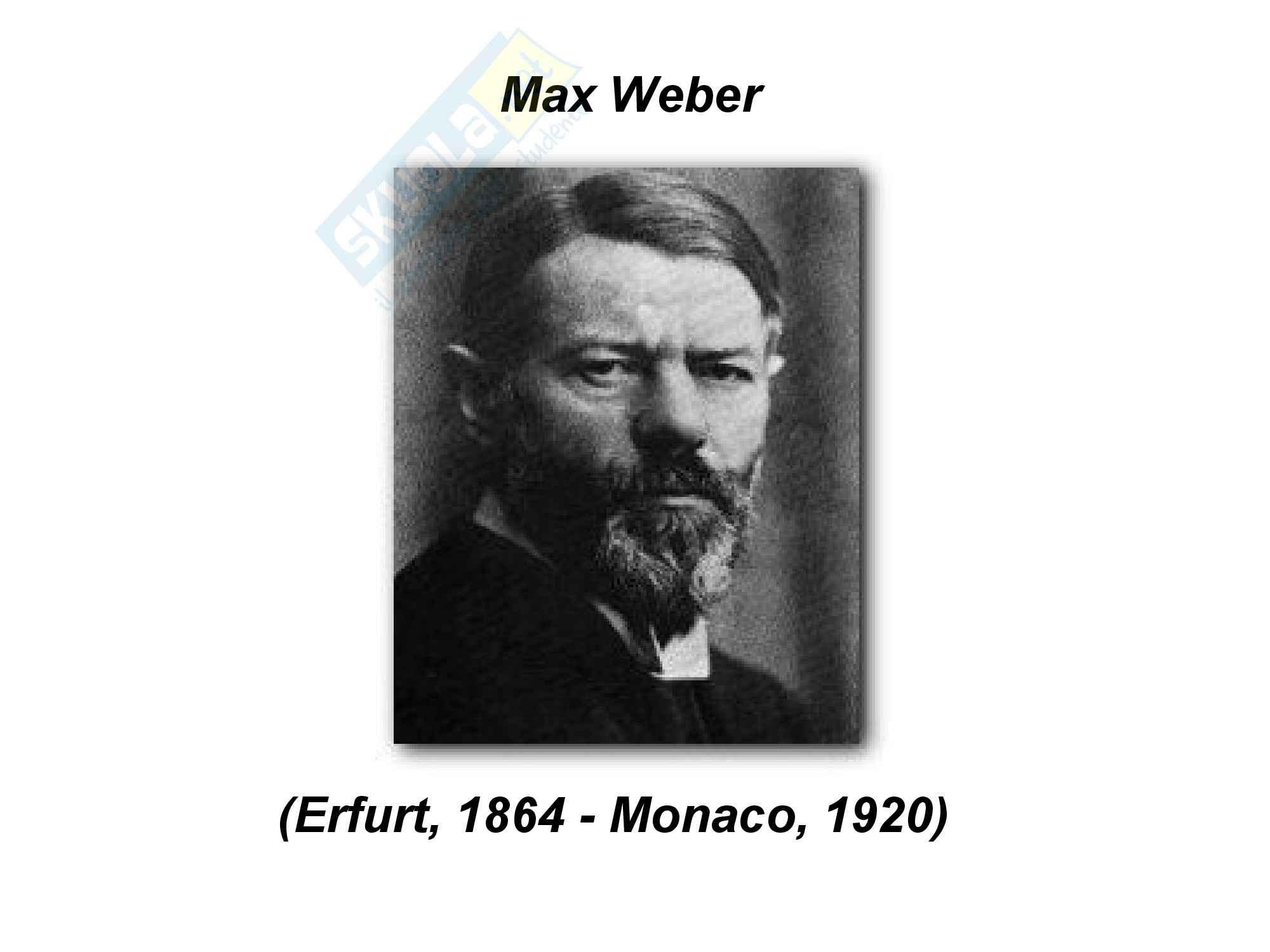 Appunti su Max Weber