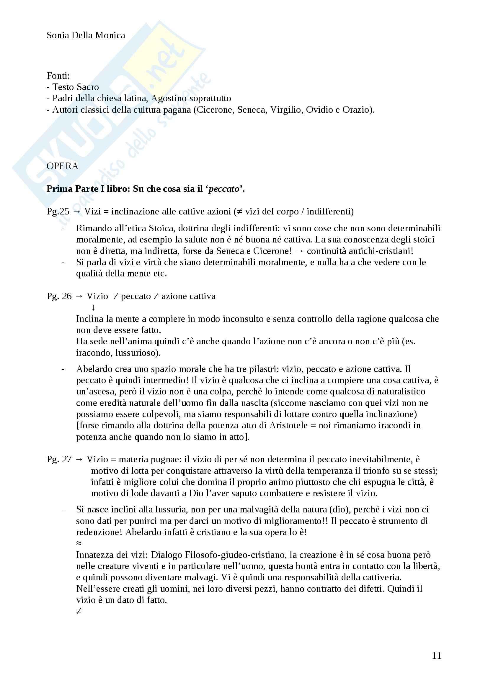 Etica, Abelardo, Classico della filosofia Pag. 11