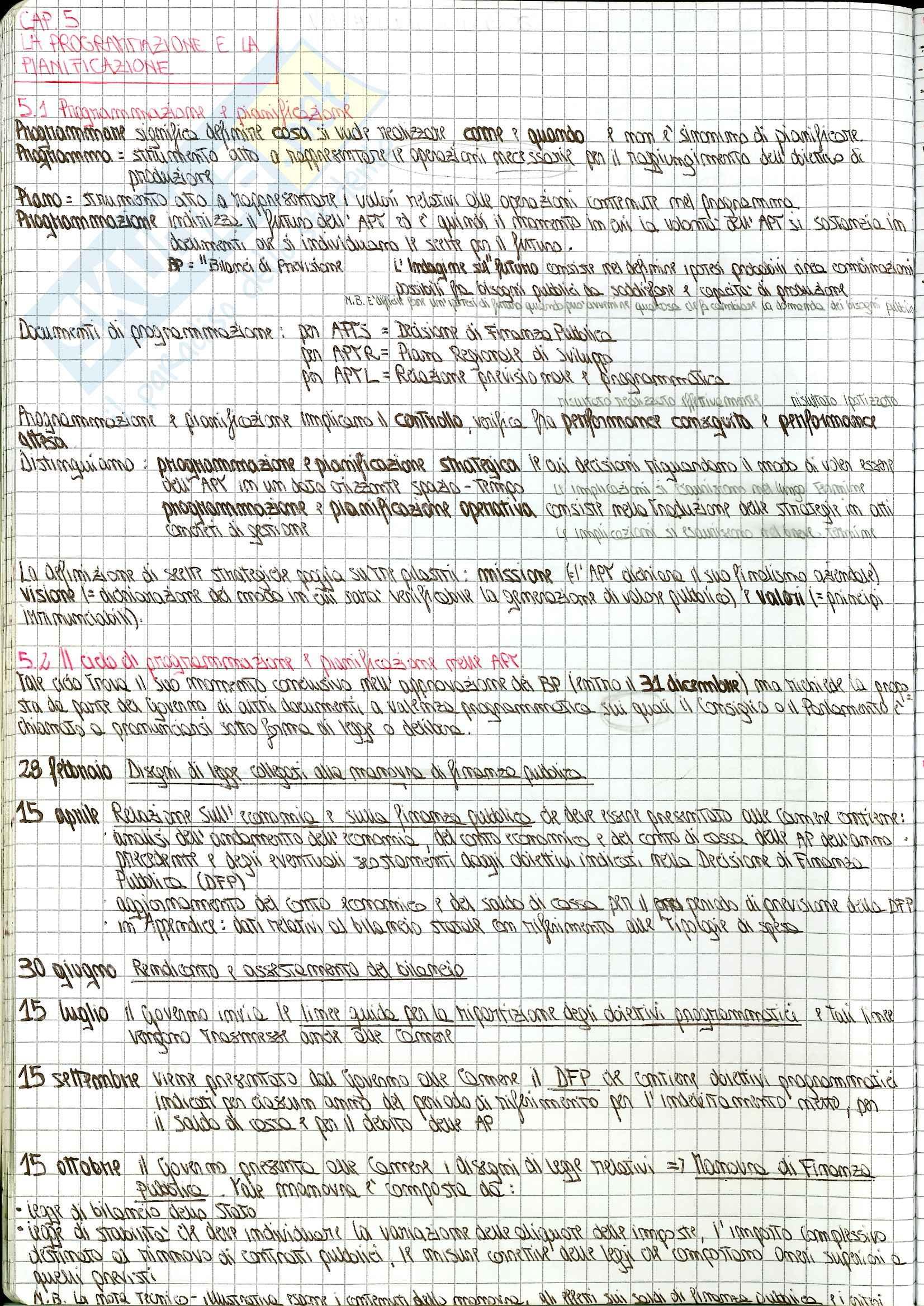 Appunti Economia delle Aziende e delle Amministrazioni Pubbliche Pag. 16