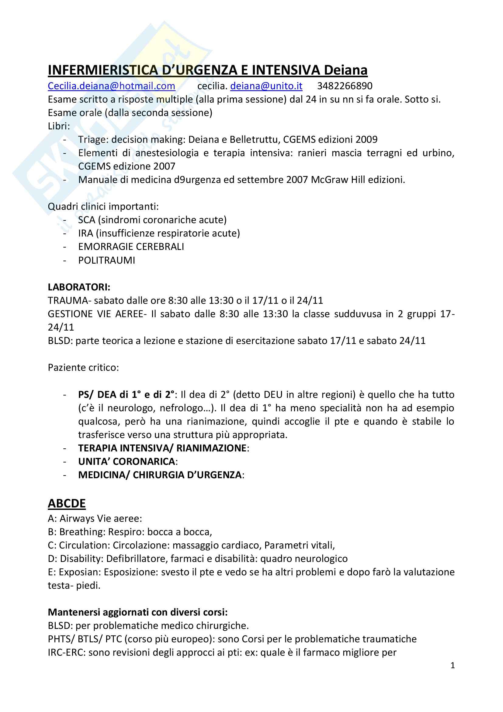 Infermieristica d'urgenza e intensiva (infermieri)