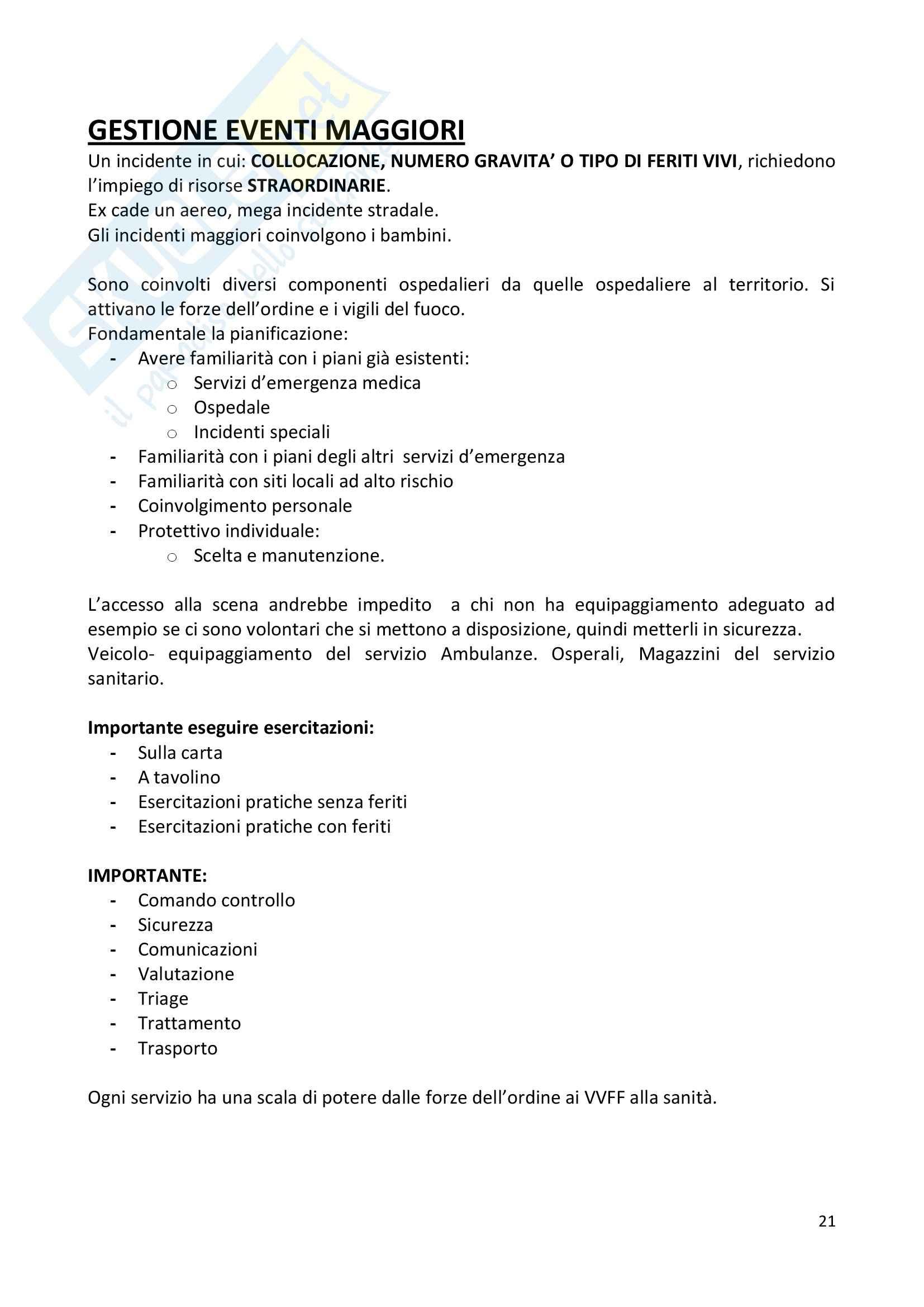 Infermieristica d'urgenza e intensiva (infermieri) Pag. 21