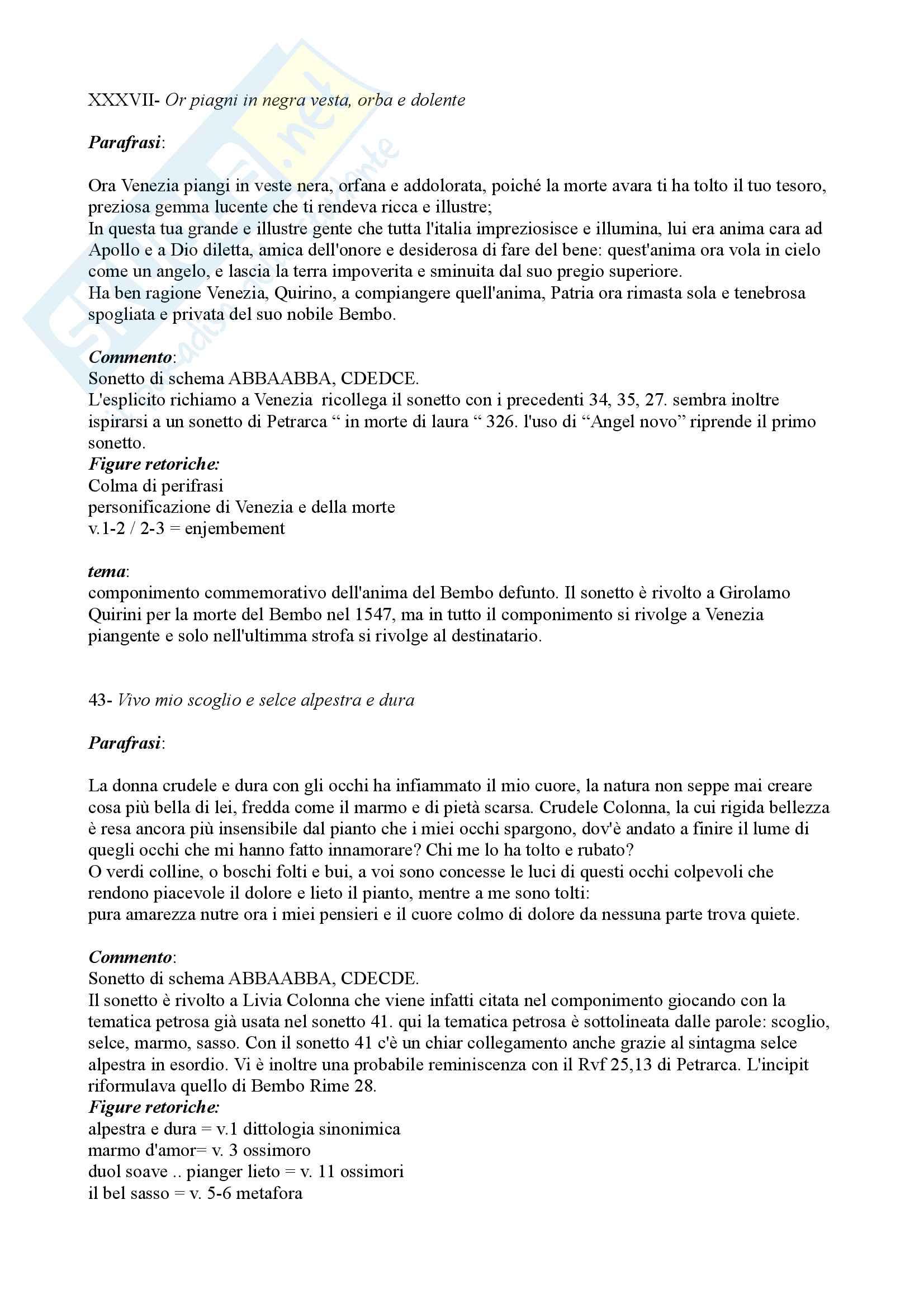 Parafrasi Giovanni Della Casa Pag. 6