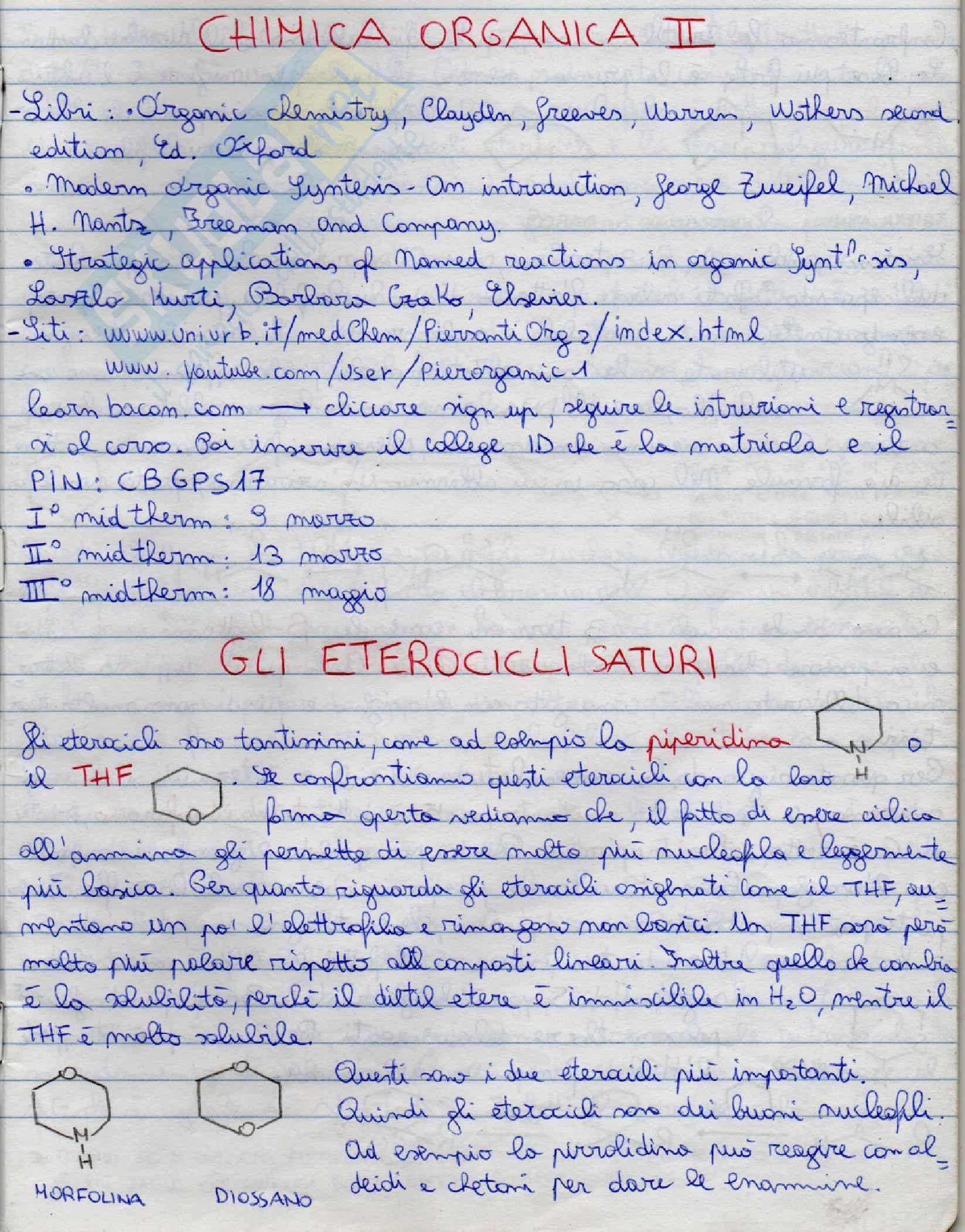 Chimica organica II
