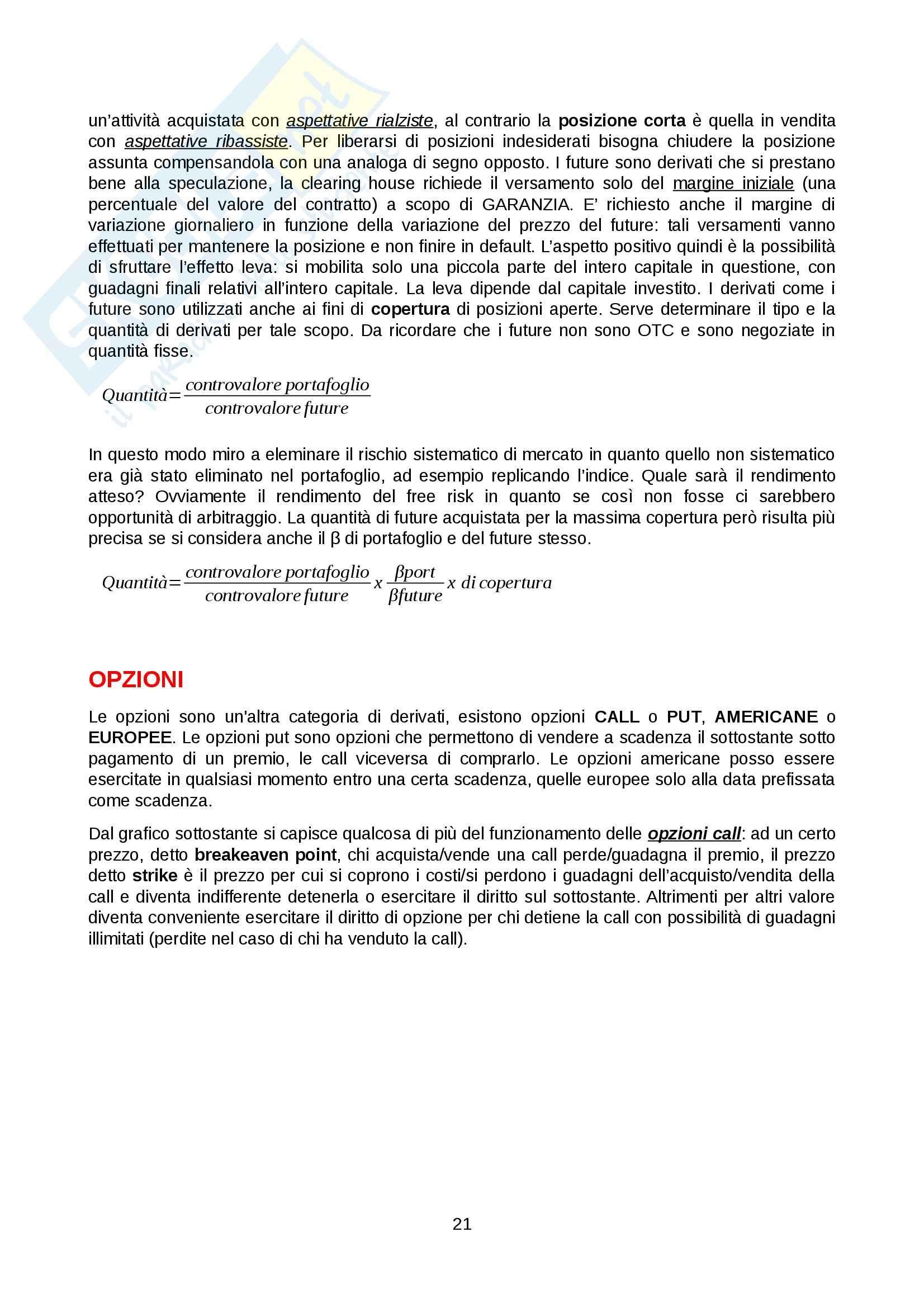 Economia del mercato mobiliare - Appunti Pag. 21