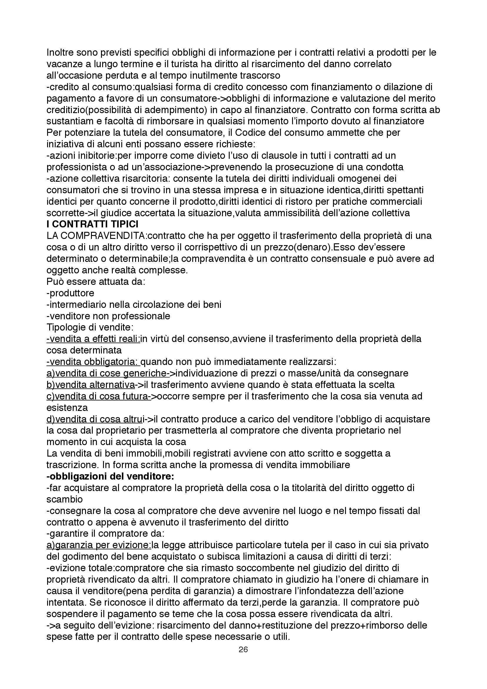 Riassunto esame Diritto Privato II, prof. Pasquino, libro consigliato Obbligazioni e Singoli Contratti di Torrente e Schlesinger Pag. 26