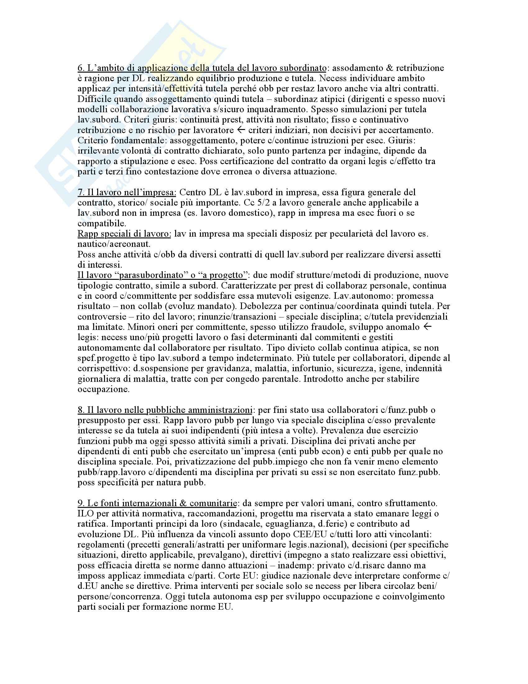 Riassunto esame Diritto del lavoro, prof. Carinci, libro consigliato Diritto del lavoro (Vol. II), Carinici Pag. 2