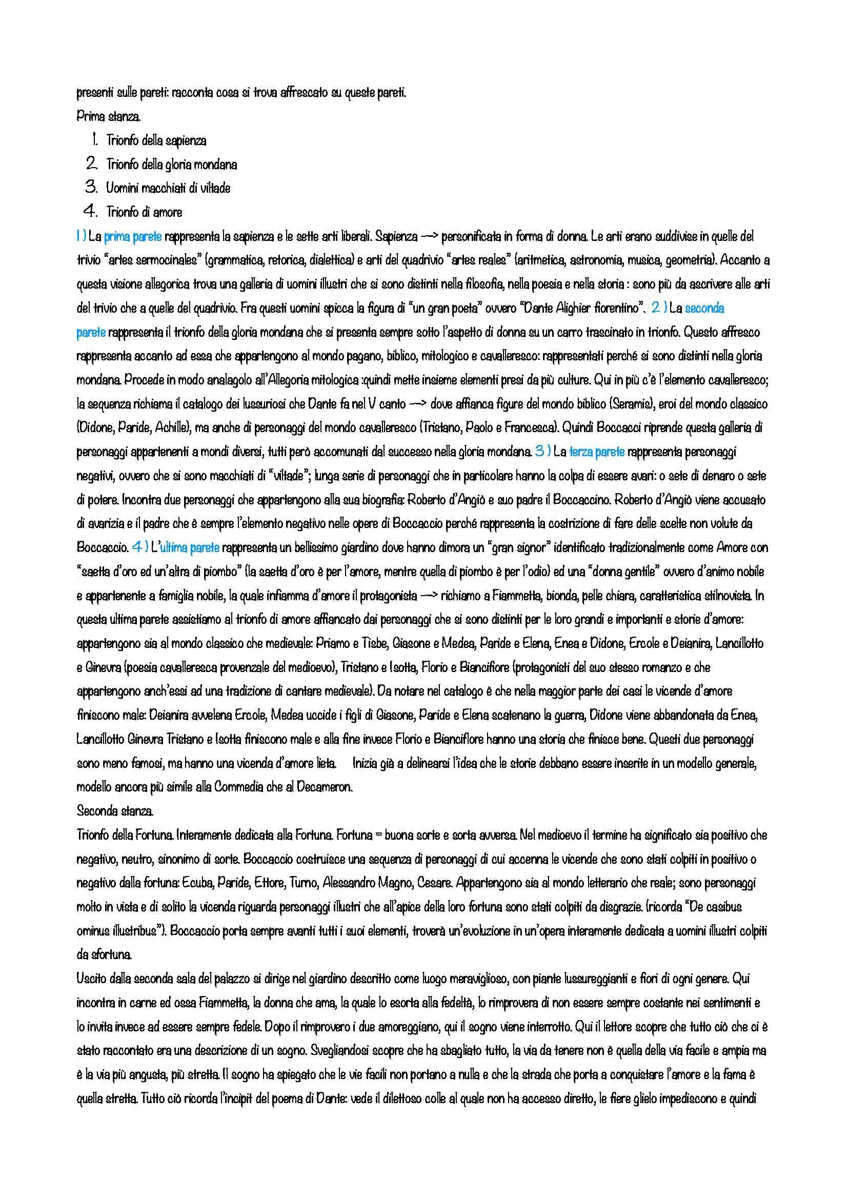 Letteratura italiana - Giovanni Boccaccio Pag. 16
