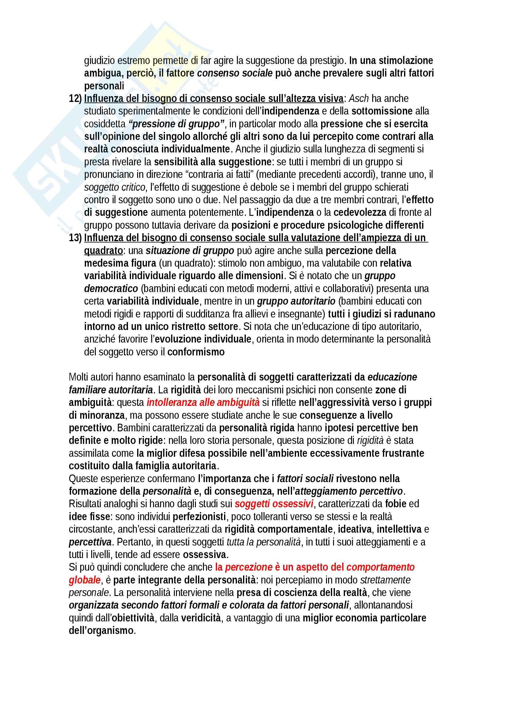 Riassunto esame Psicologia, prof. Giannini, libro consigliato Lineamenti, note e sintesi di psicologia generale, Bonaiuto, Giannini Pag. 6