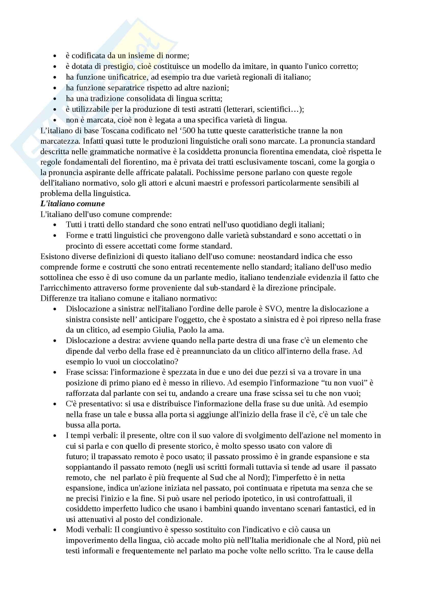 Riassunto esame Dialettologia, prof. Vignuzzi, libri consigliati Sobrero, Avolio, Marcato Pag. 2