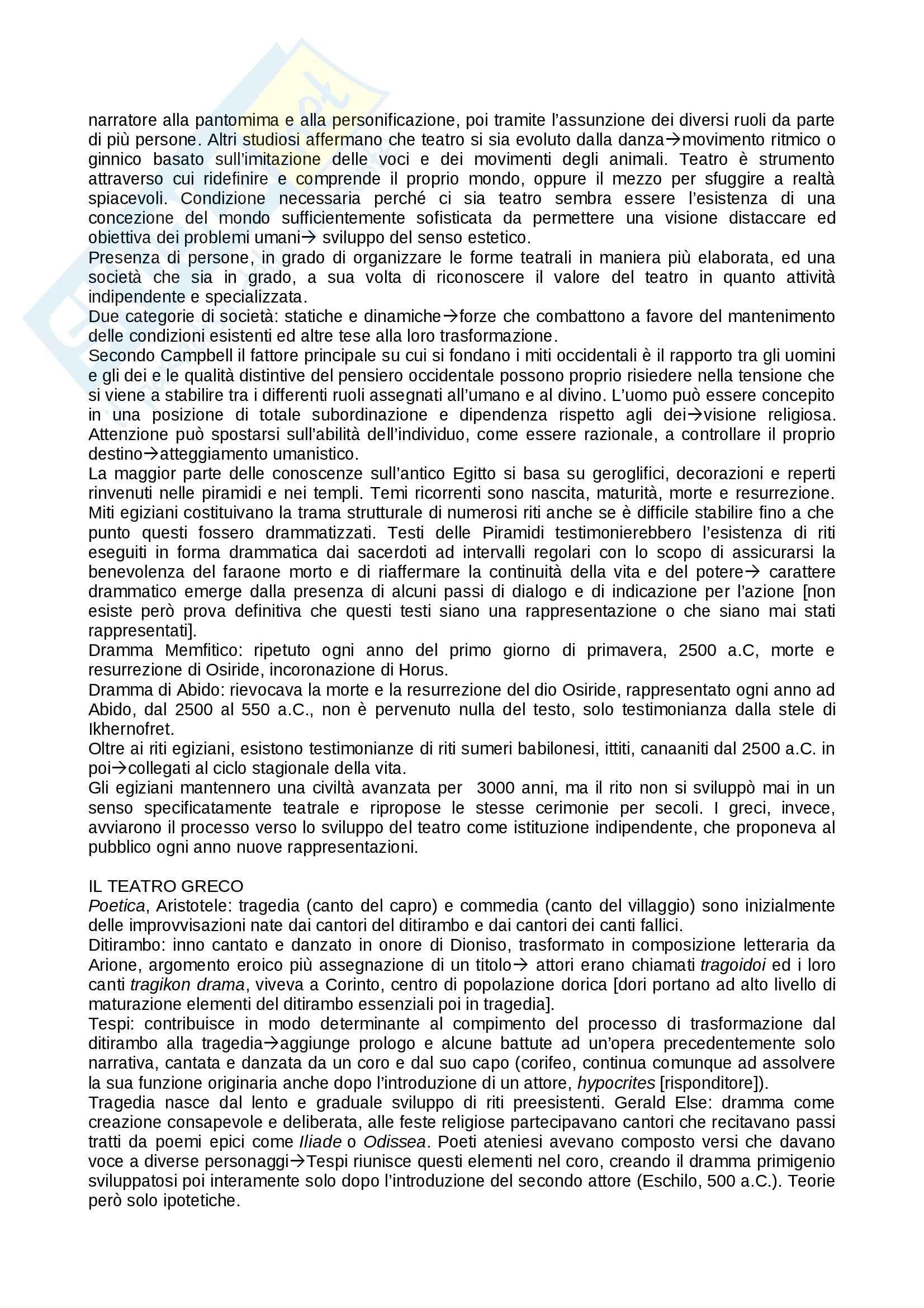Riassunto esame teatro, prof. Alberti, libro consigliato Storia del teatro, Brockett, Vicentini, De Lorenzis Pag. 2