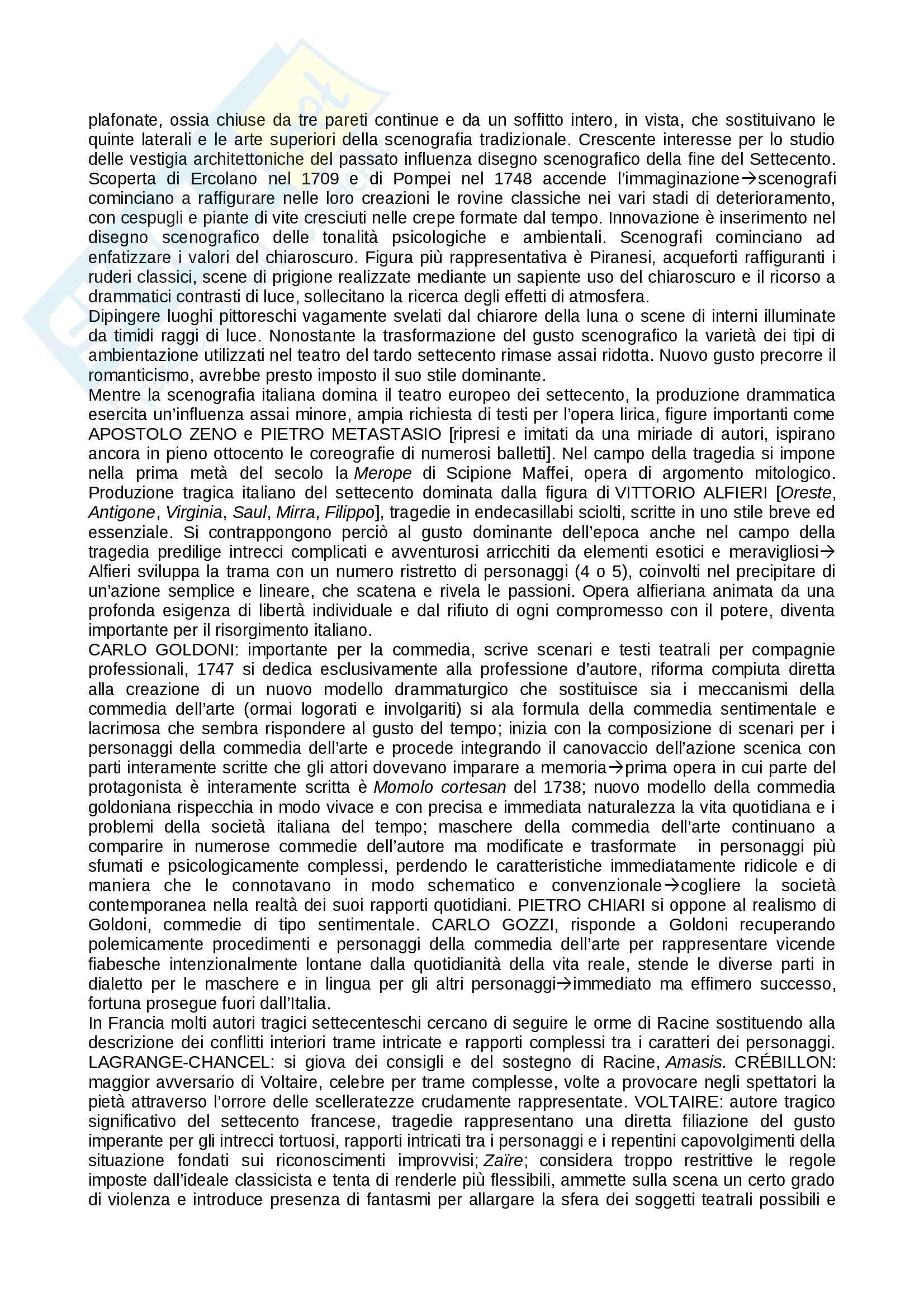 Riassunto esame teatro, prof. Alberti, libro consigliato Storia del teatro, Brockett, Vicentini, De Lorenzis Pag. 51