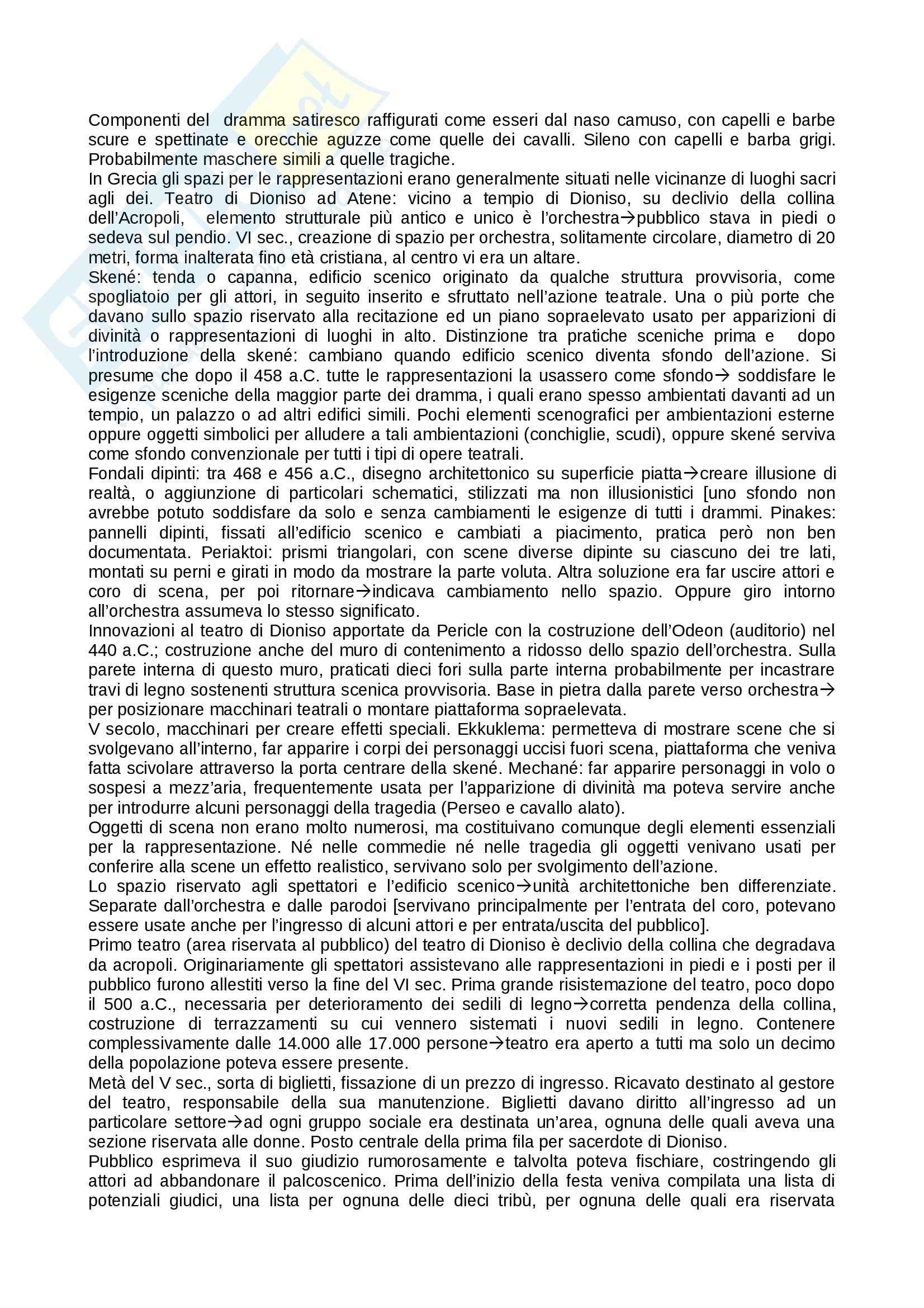 Riassunto esame teatro, prof. Alberti, libro consigliato Storia del teatro, Brockett, Vicentini, De Lorenzis Pag. 6