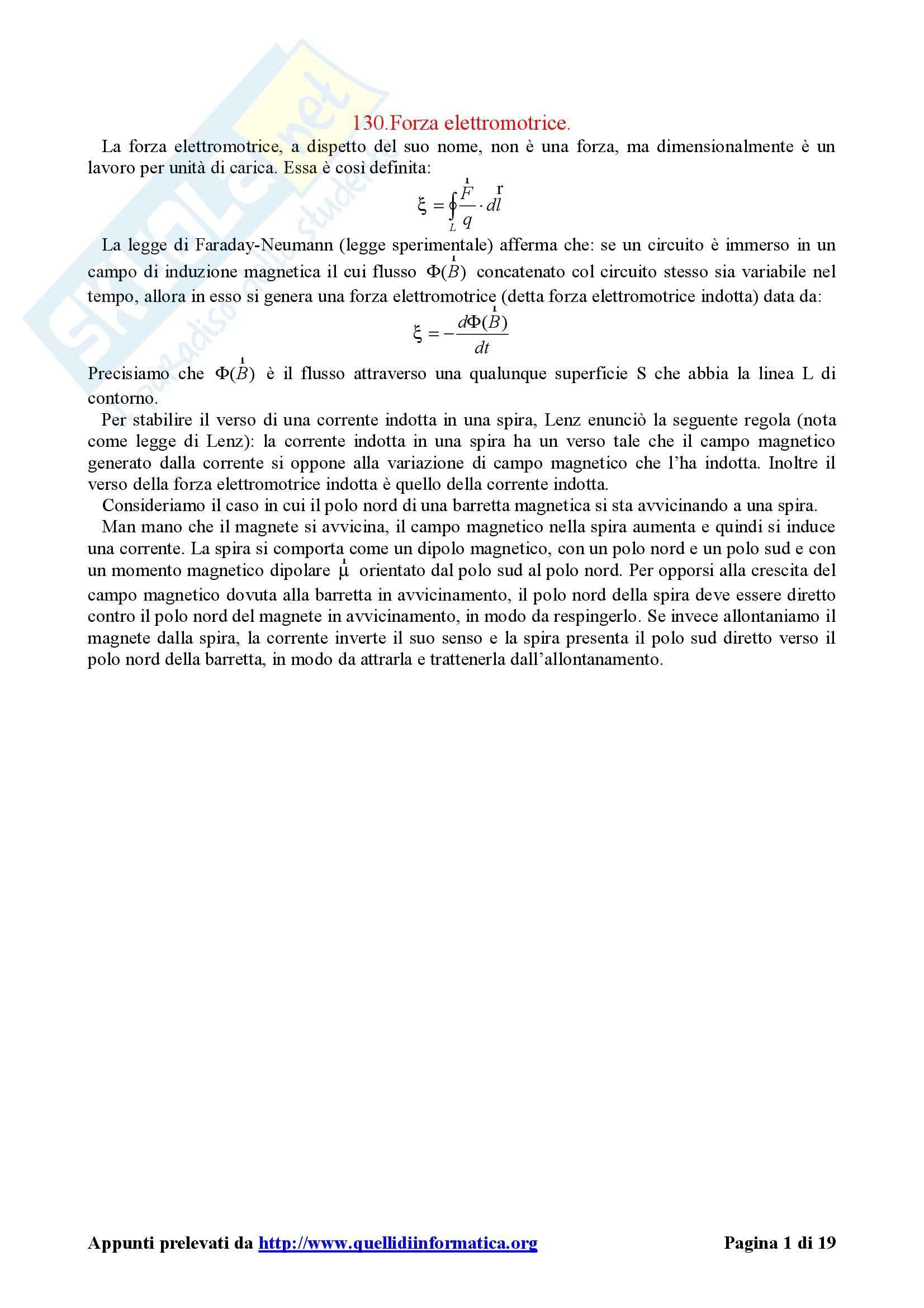 Fisica II - appunti del corso - capitolo 9
