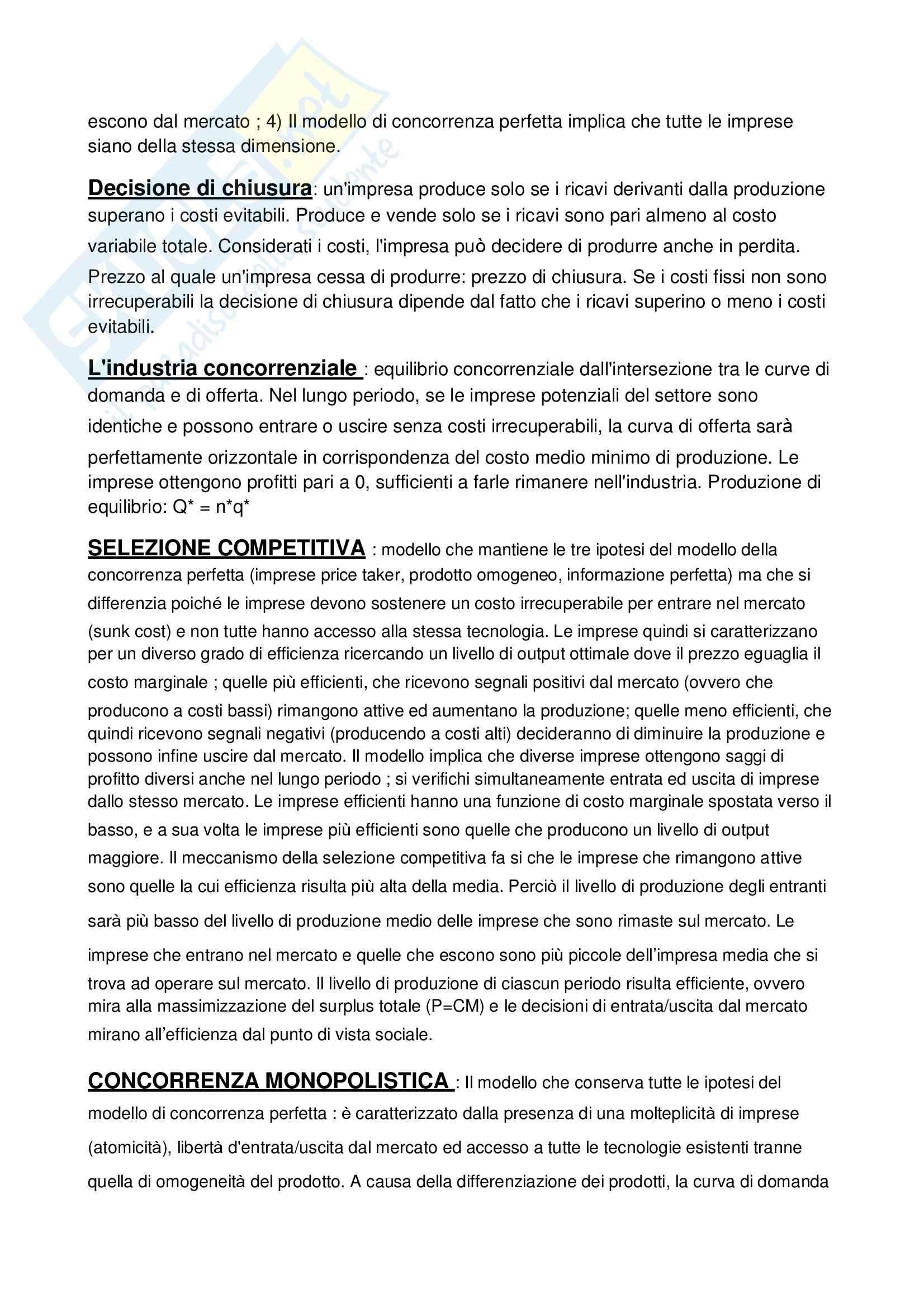 Riassunto esame Economia e organizzazione industriale, prof. Oliviero, libro consigliato Economia industriale, Cabral Pag. 21