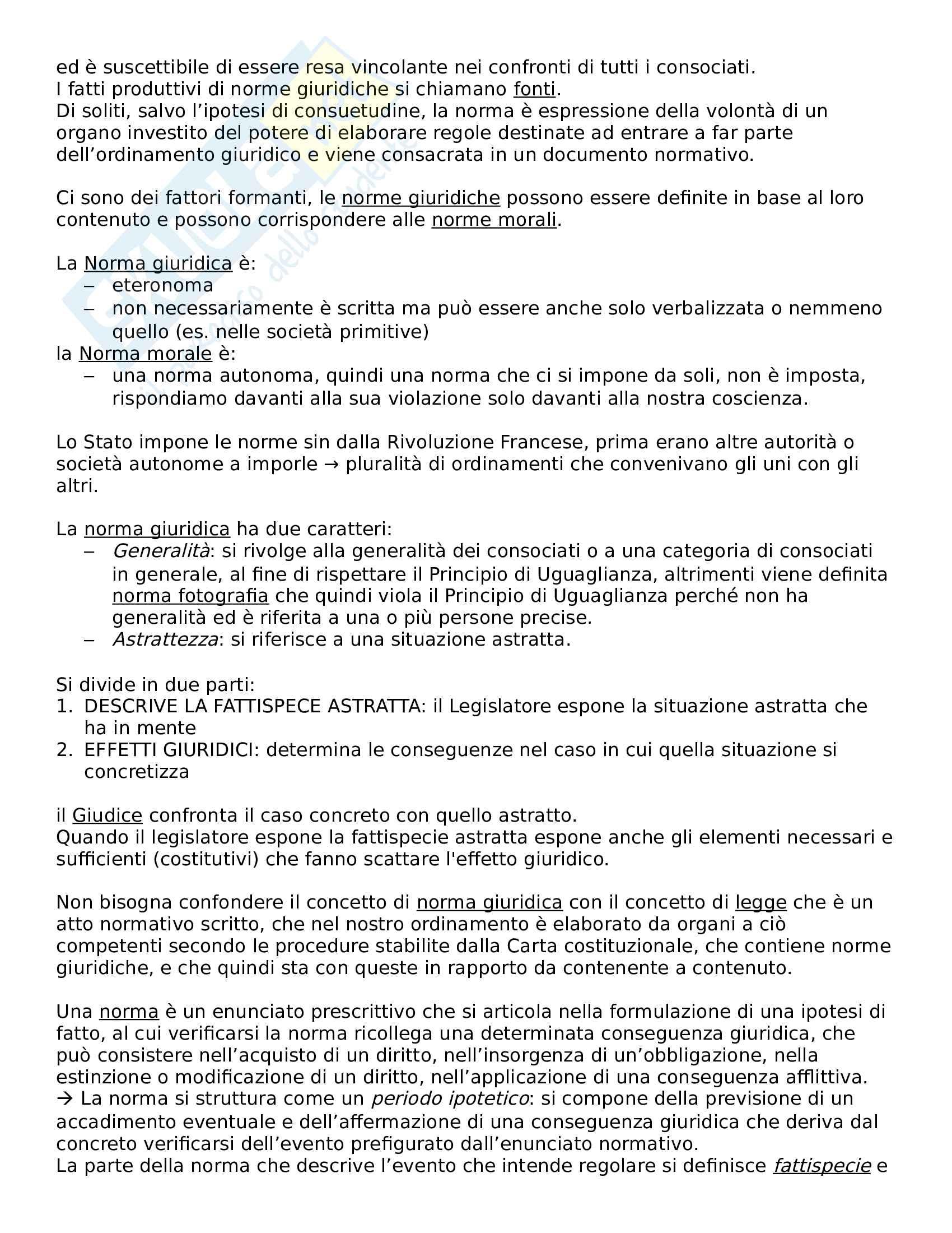 Riassunto di diritto privato, prof. Rajneri Pag. 2