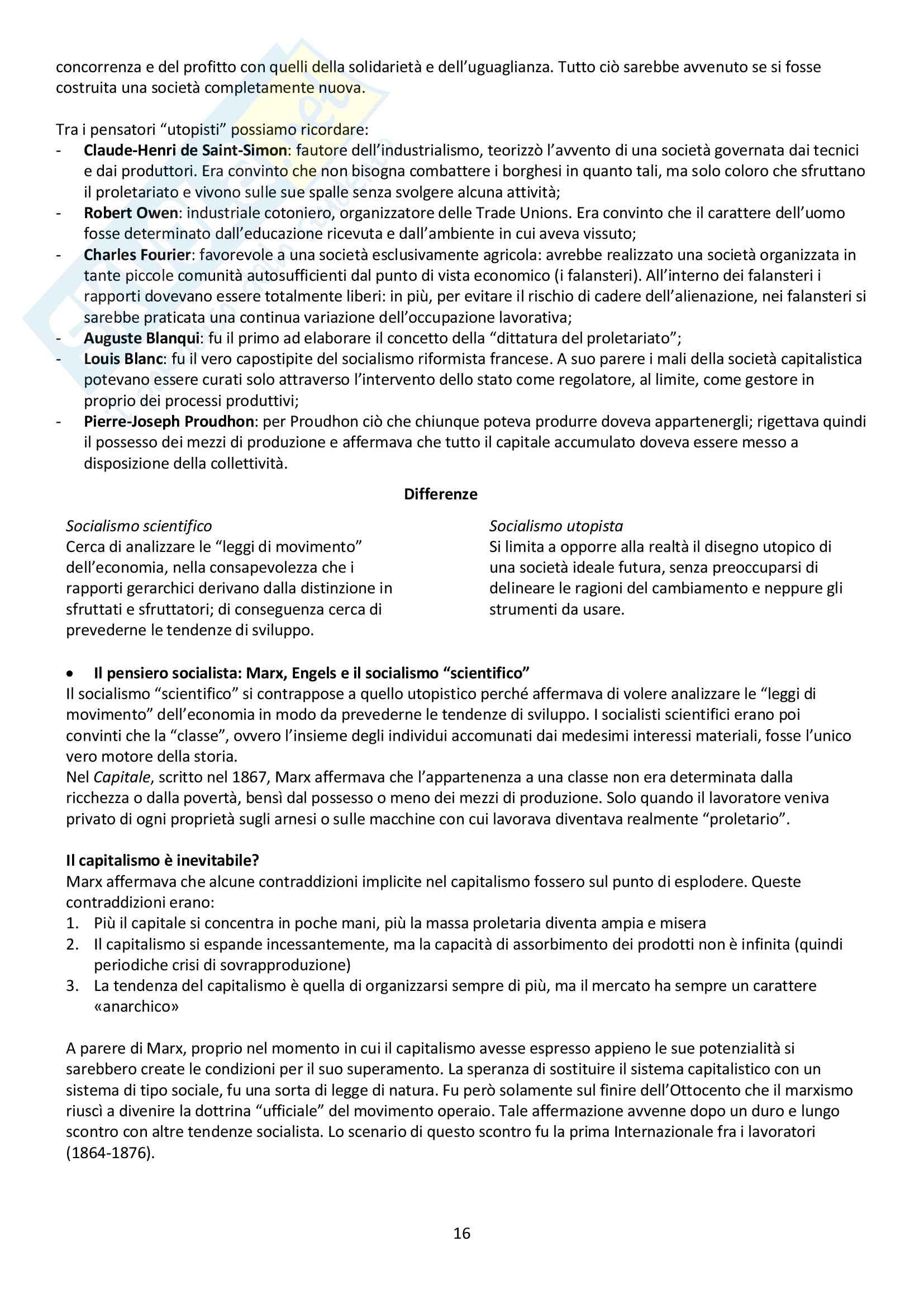 """Riassunto esame storia contemporanea, prof. Baravelli. Libro consigliato """"Venti lezioni di storia contemporanea dal 1848 ad oggi"""", Andrea Baravelli, Ilaria Cerioli Pag. 16"""