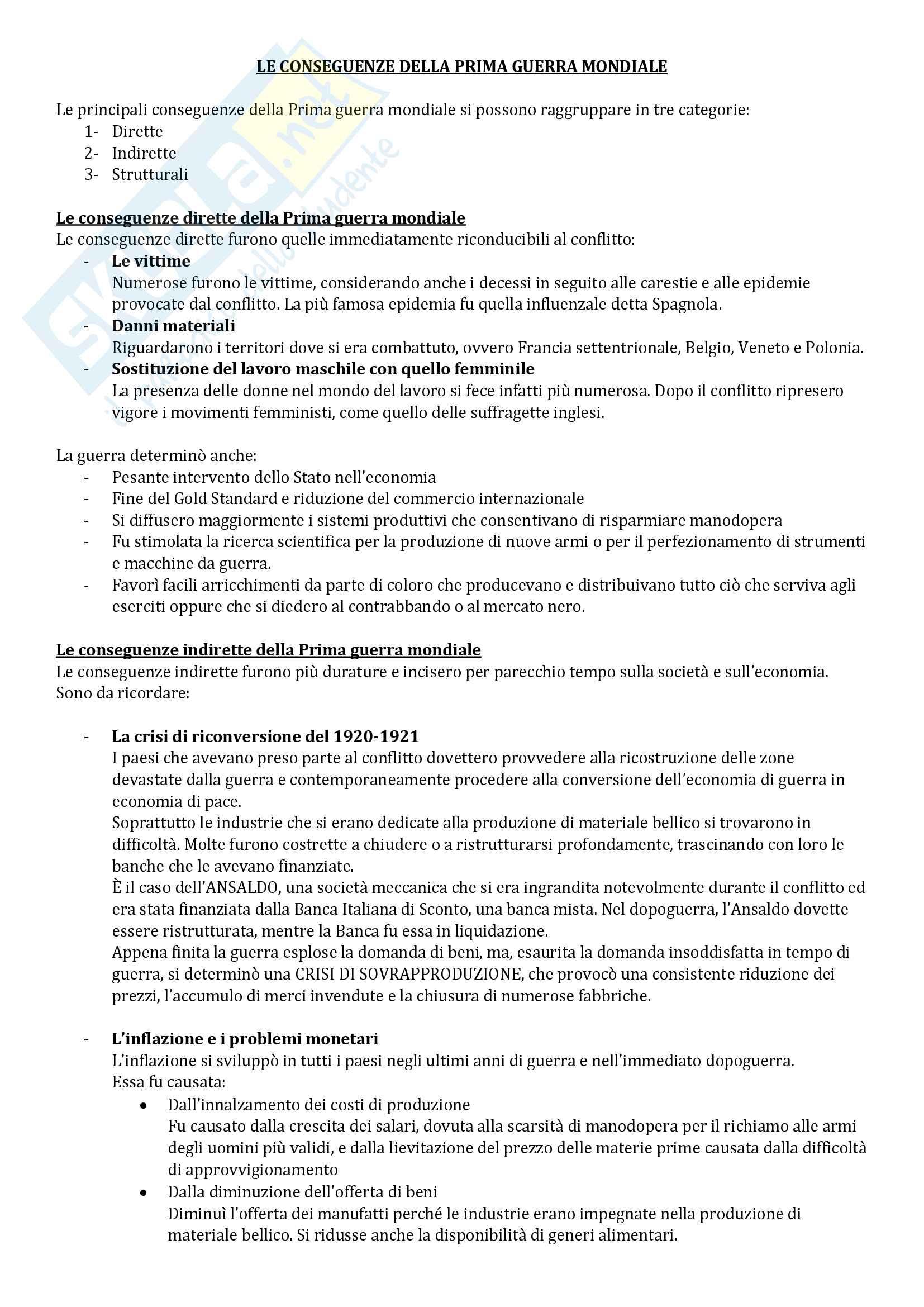 Storia Economica: domande esame Ennio de Simone Pag. 26