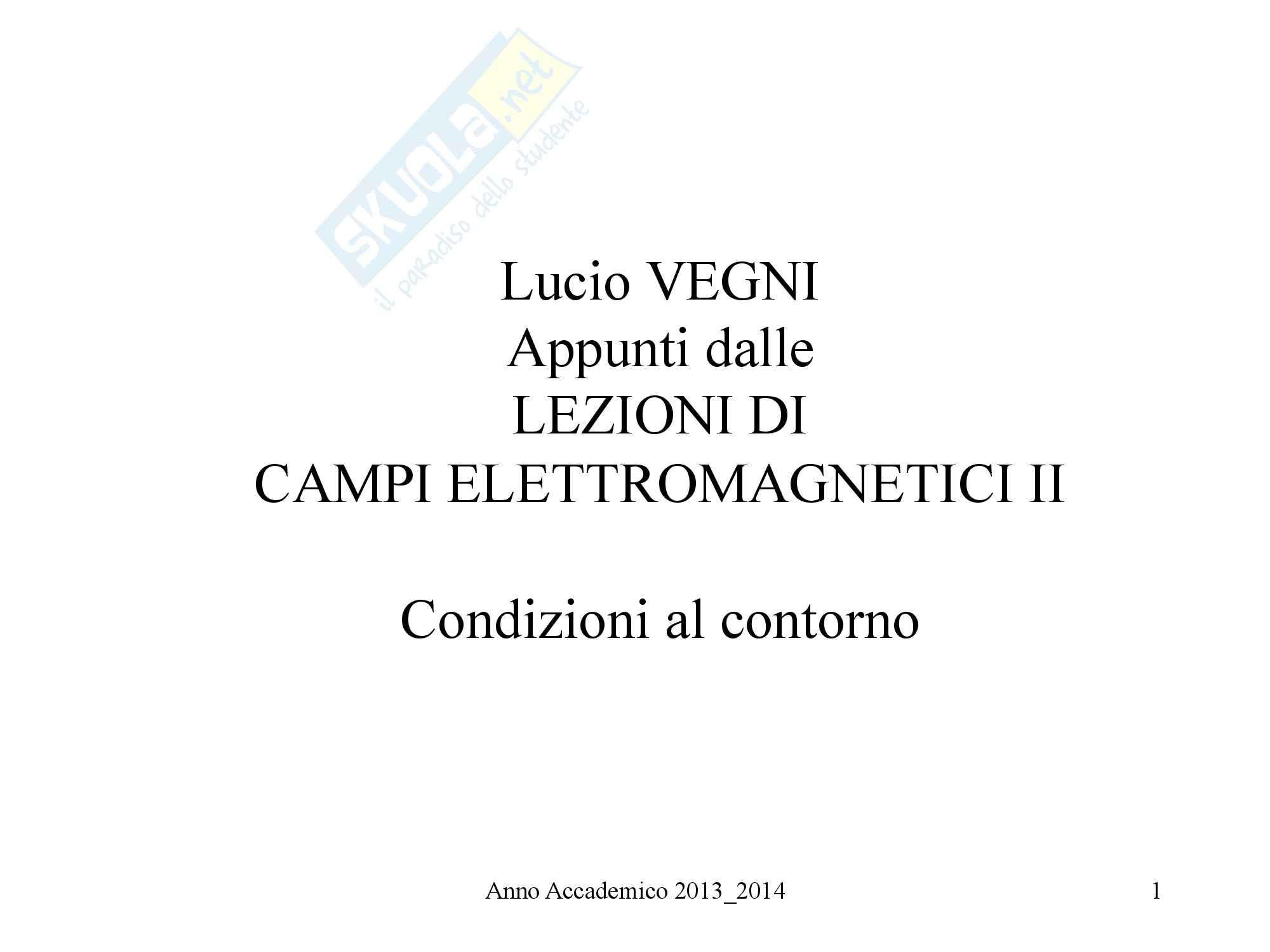 Campi Elettromagnetici - Condizioni al contorno