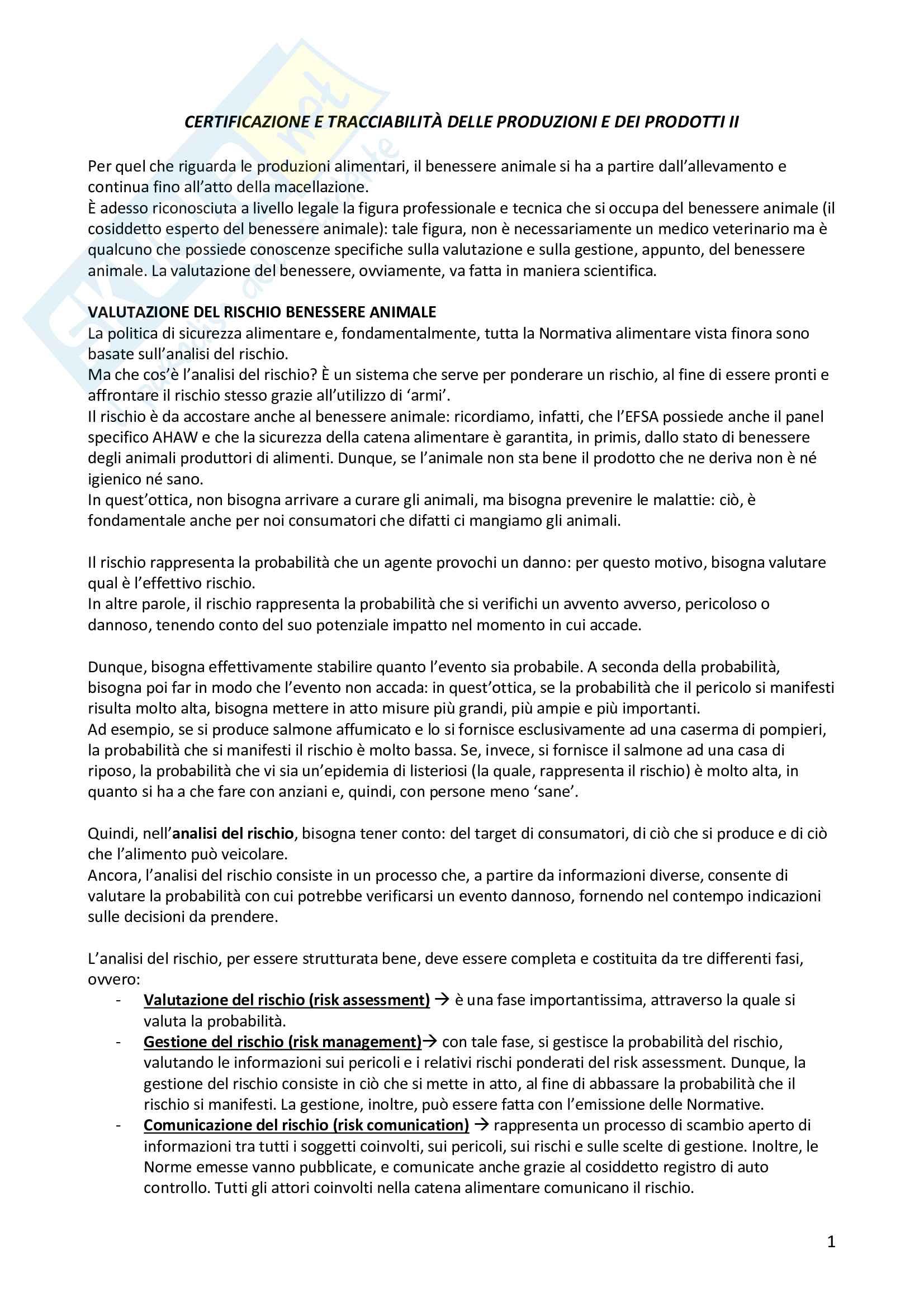 Certificazione e tracciabilità delle produzioni dei prodotti - unità 2