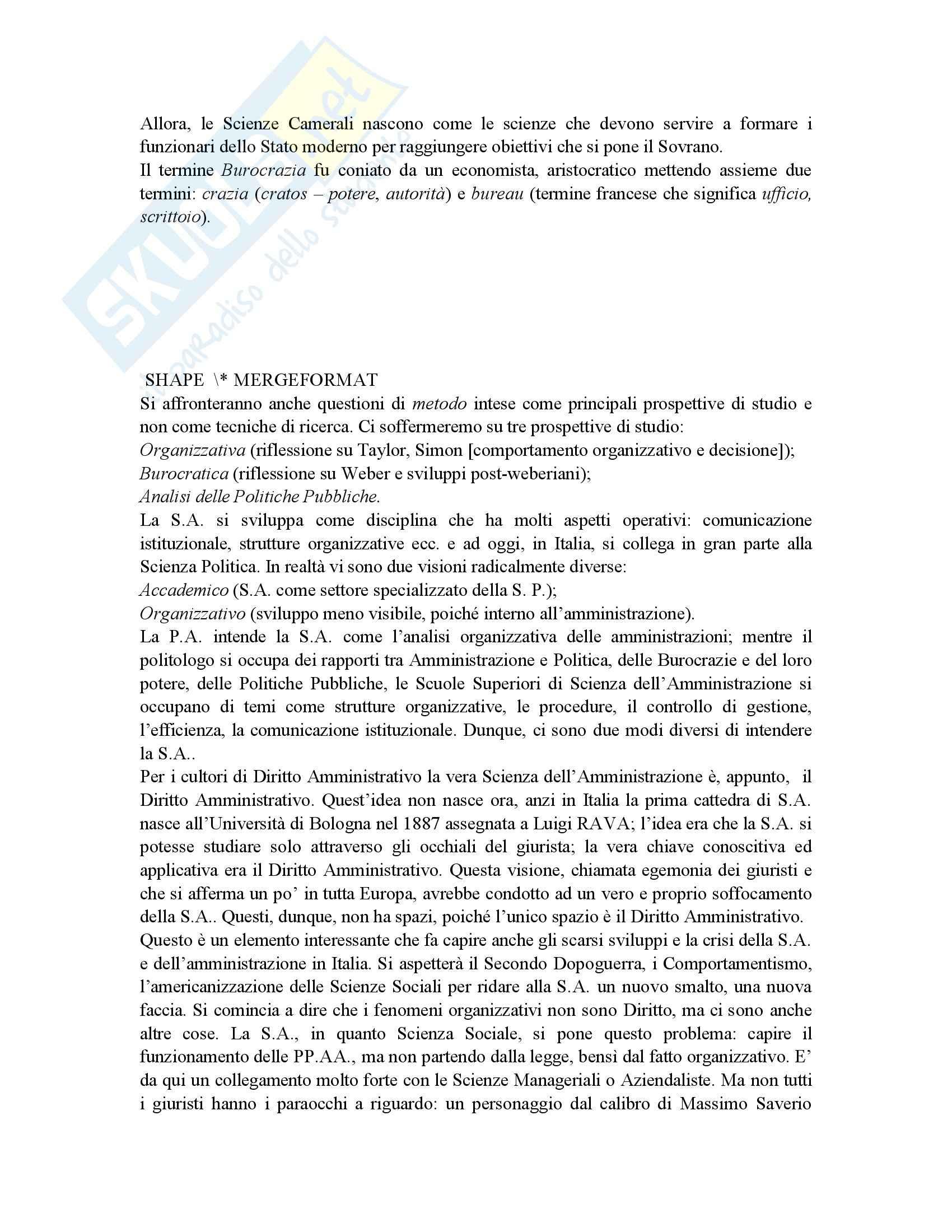Riassunto esame Scienza dell'Amministrazione, prof. Petroni, libro consigliato Lezioni di Scienza dell'Amministrazione, Cavaglieri Pag. 2