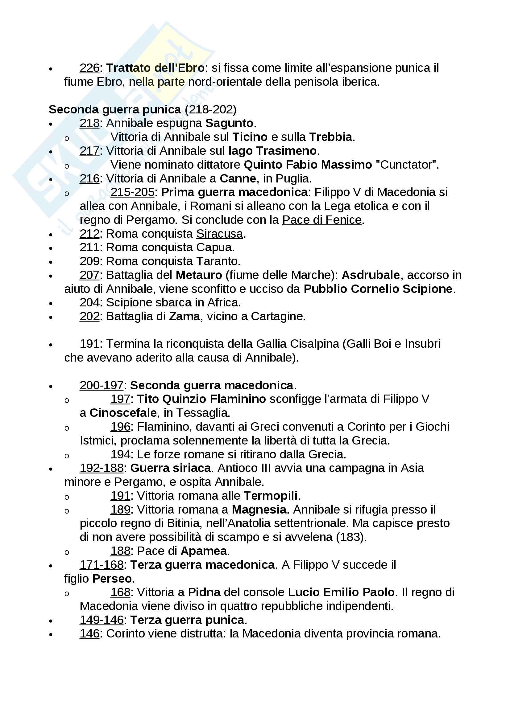 Cronologia della Storia antica (fino alla caduta di Roma) Pag. 11