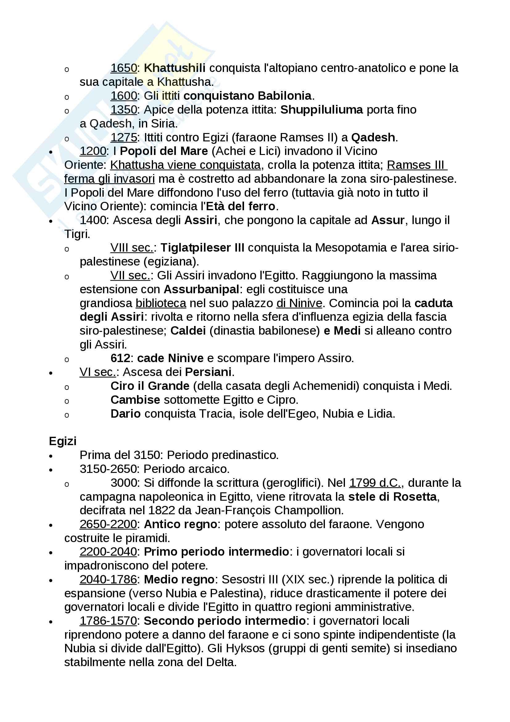 Cronologia della Storia antica (fino alla caduta di Roma) Pag. 2