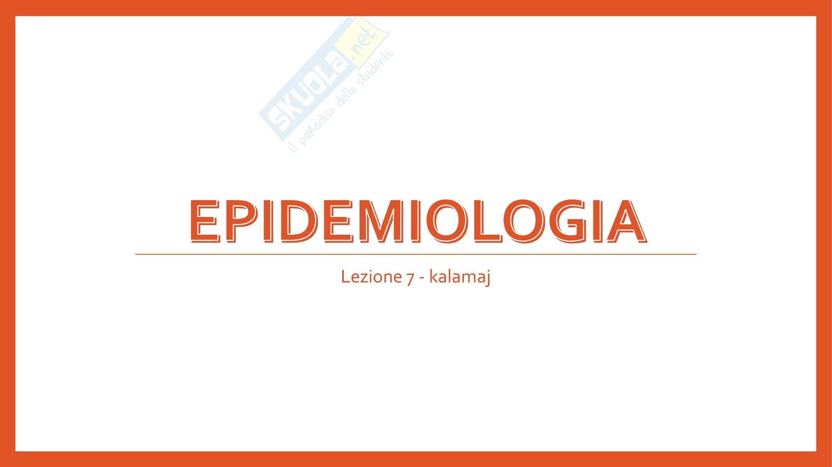 Epidemiologia - epidemiologia e epidemiologia sperimentale