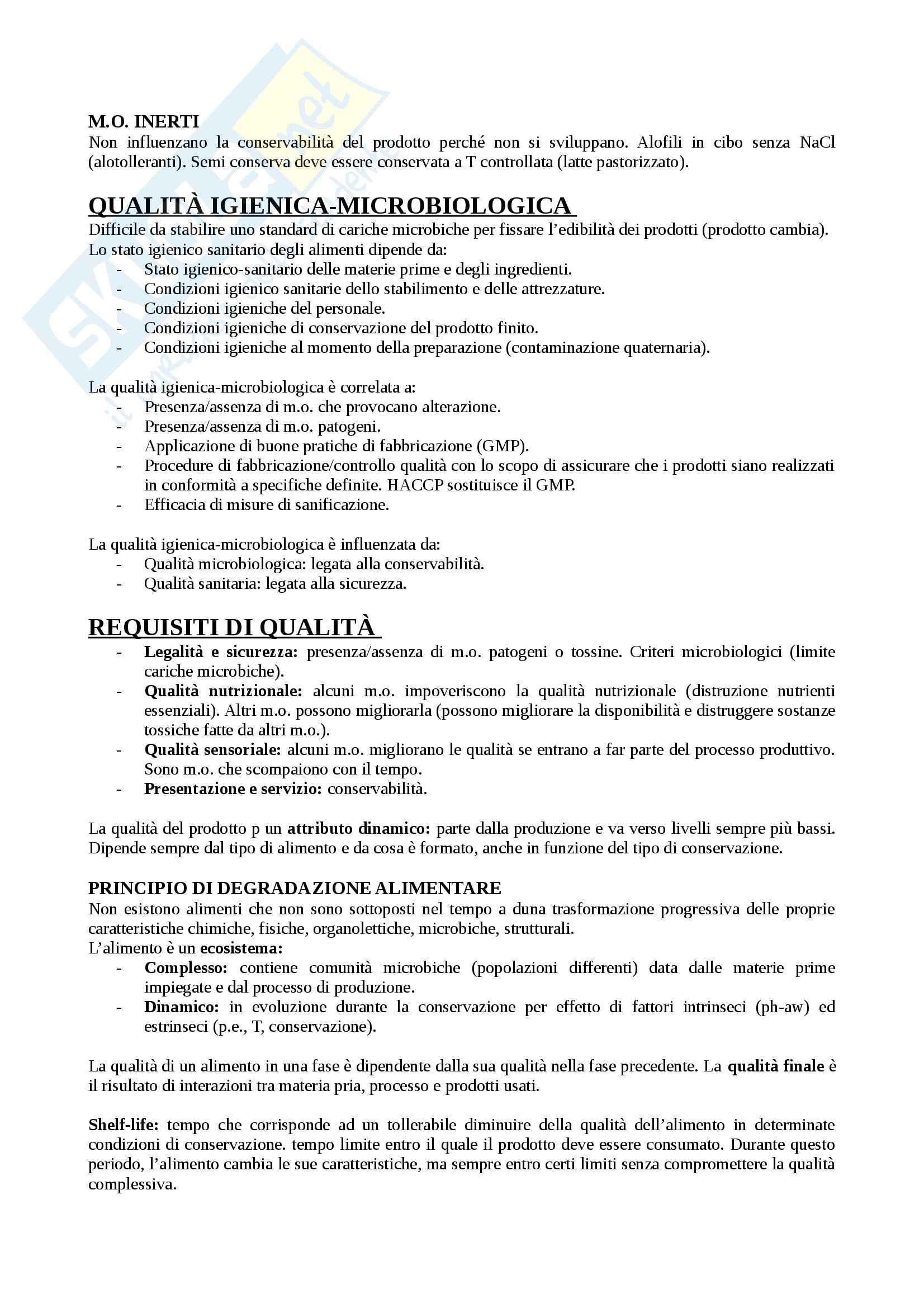 Contaminanti microbici - Appunti Pag. 6
