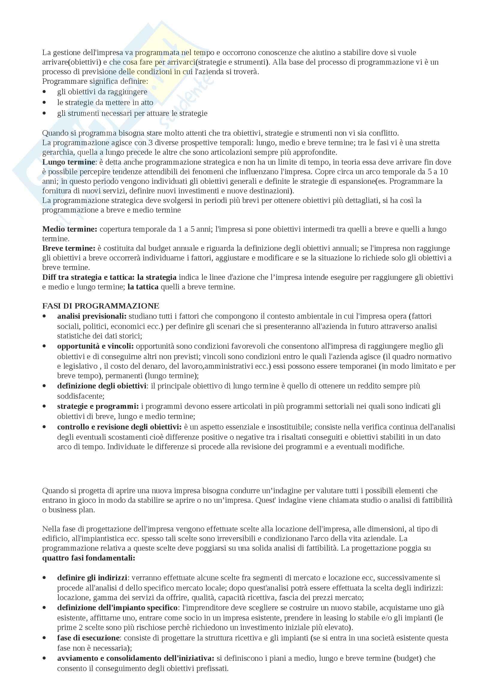 business plan tesina di economia aziendale