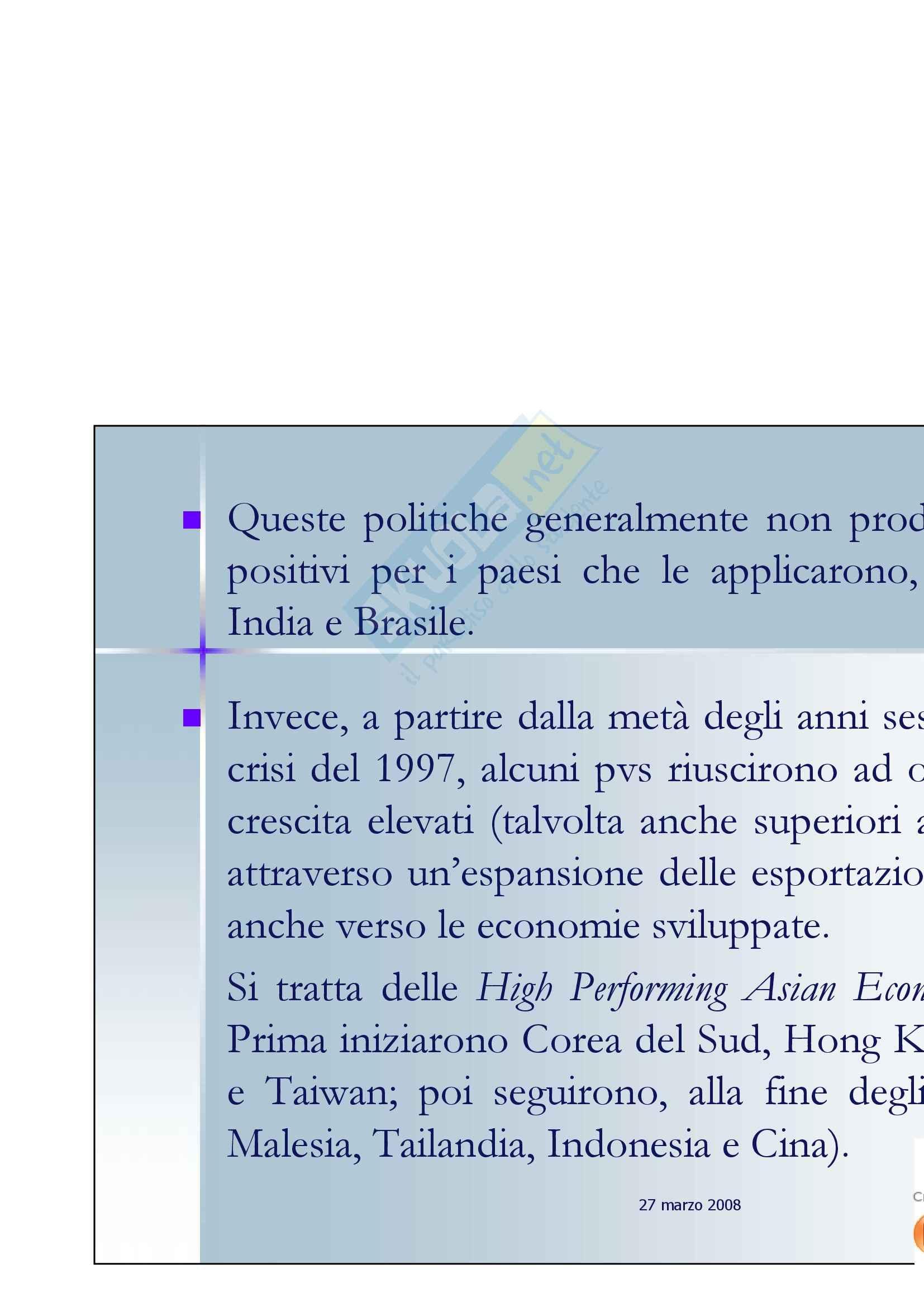 Economia internazionale - la politica commerciale dei Paesi in via di sviluppo Pag. 2