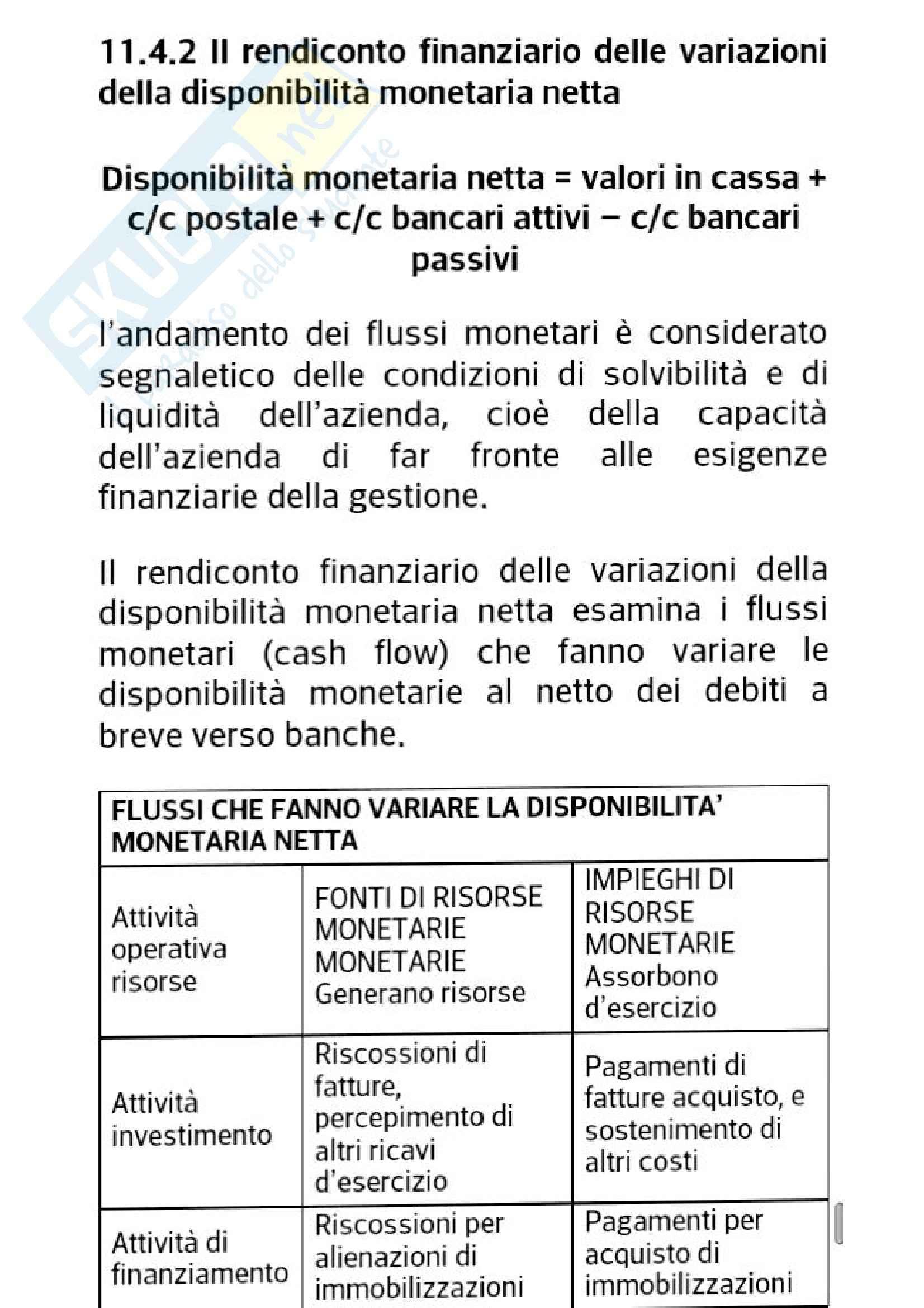 Bilancio e le analisi di bilancio, Economia aziendale e ragioneria generale Pag. 26