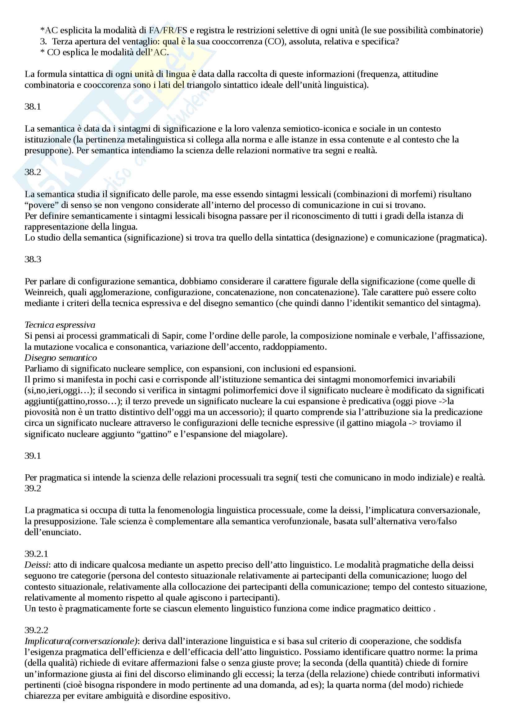 Riassunto esame Linguistica Generale, prof. Vallini, libro consigliato La Forbice e il Ventaglio, Domenico Silvestri Pag. 26
