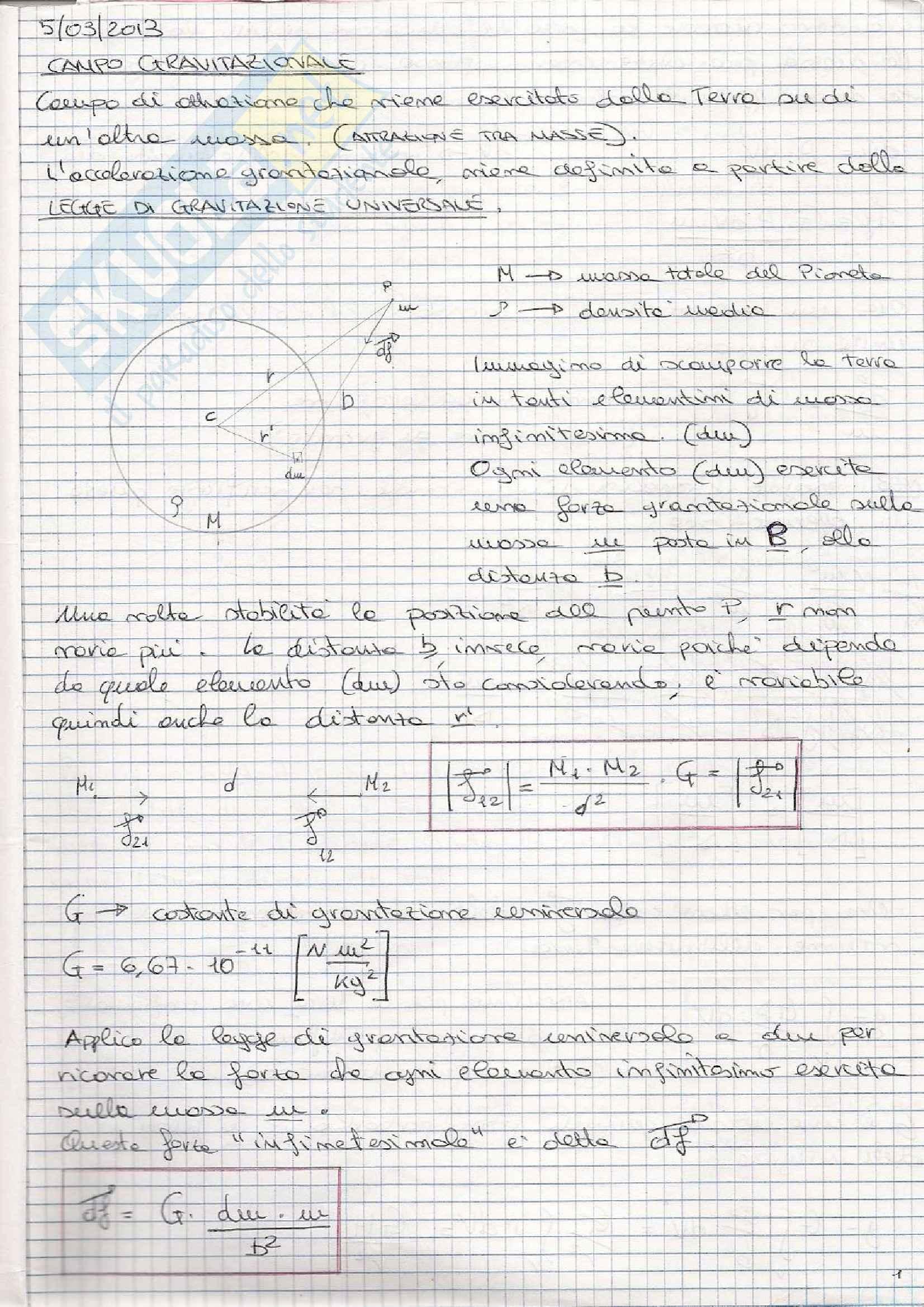Fisica Terrestre e laboratorio - Appunti prima parte