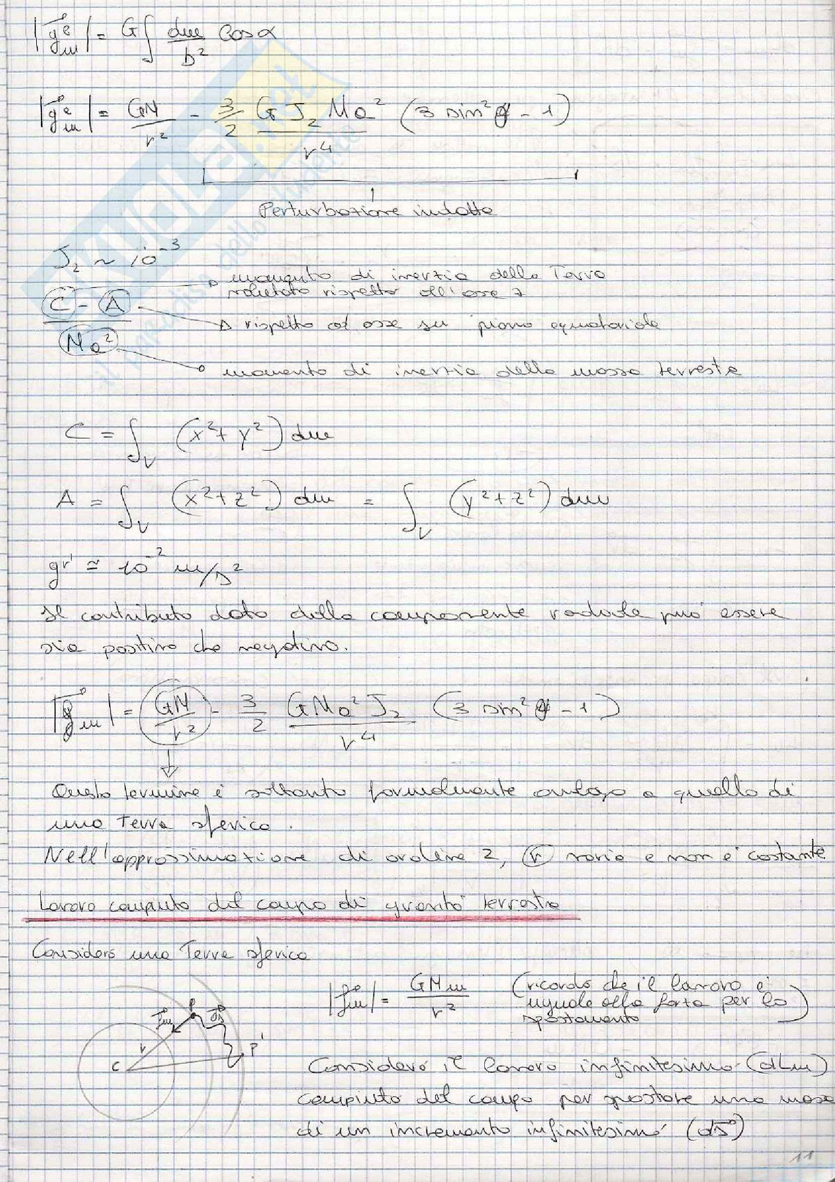 Fisica Terrestre e laboratorio - Appunti prima parte Pag. 11