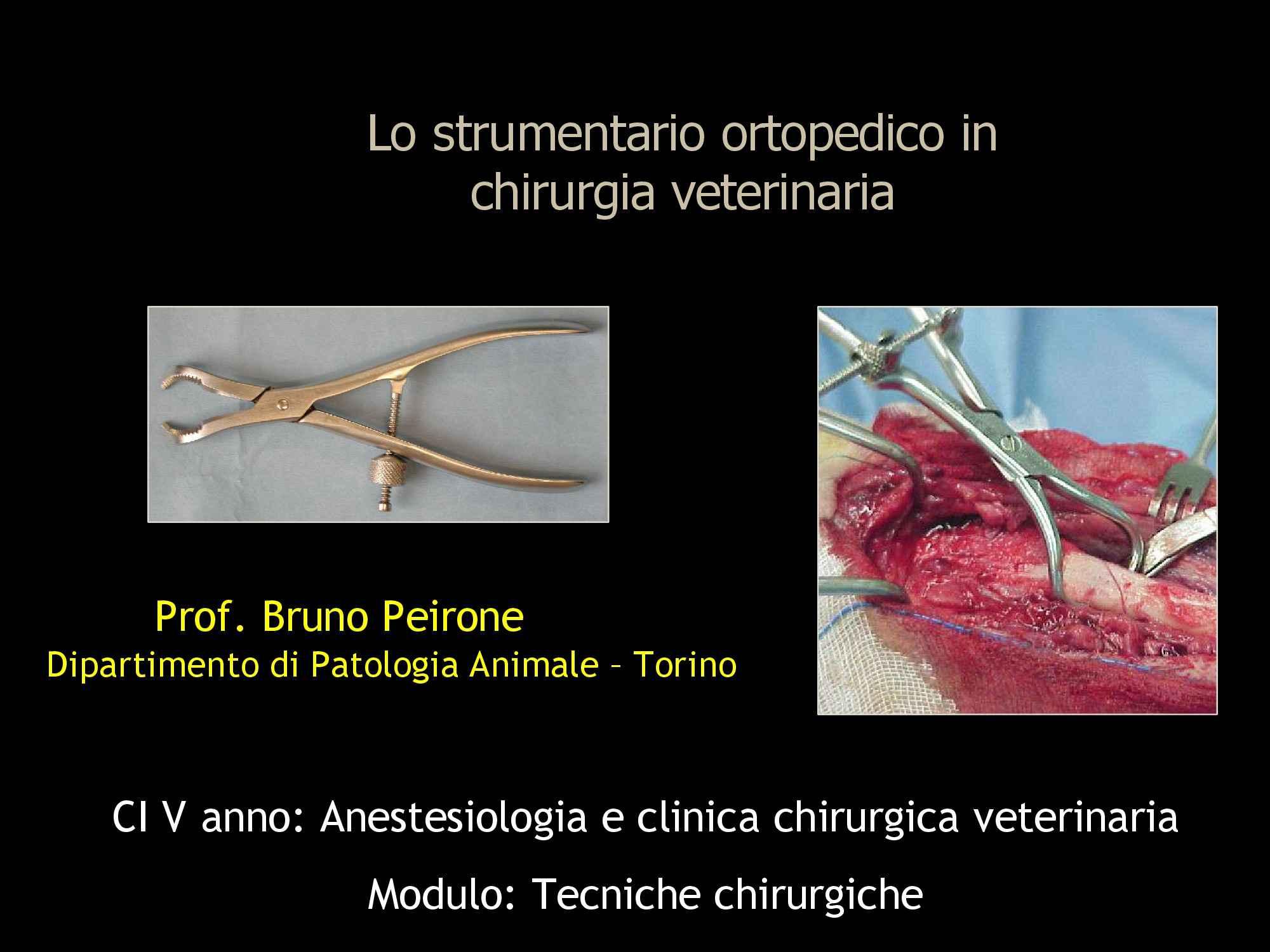 Strumentario ortopedico chirurgico