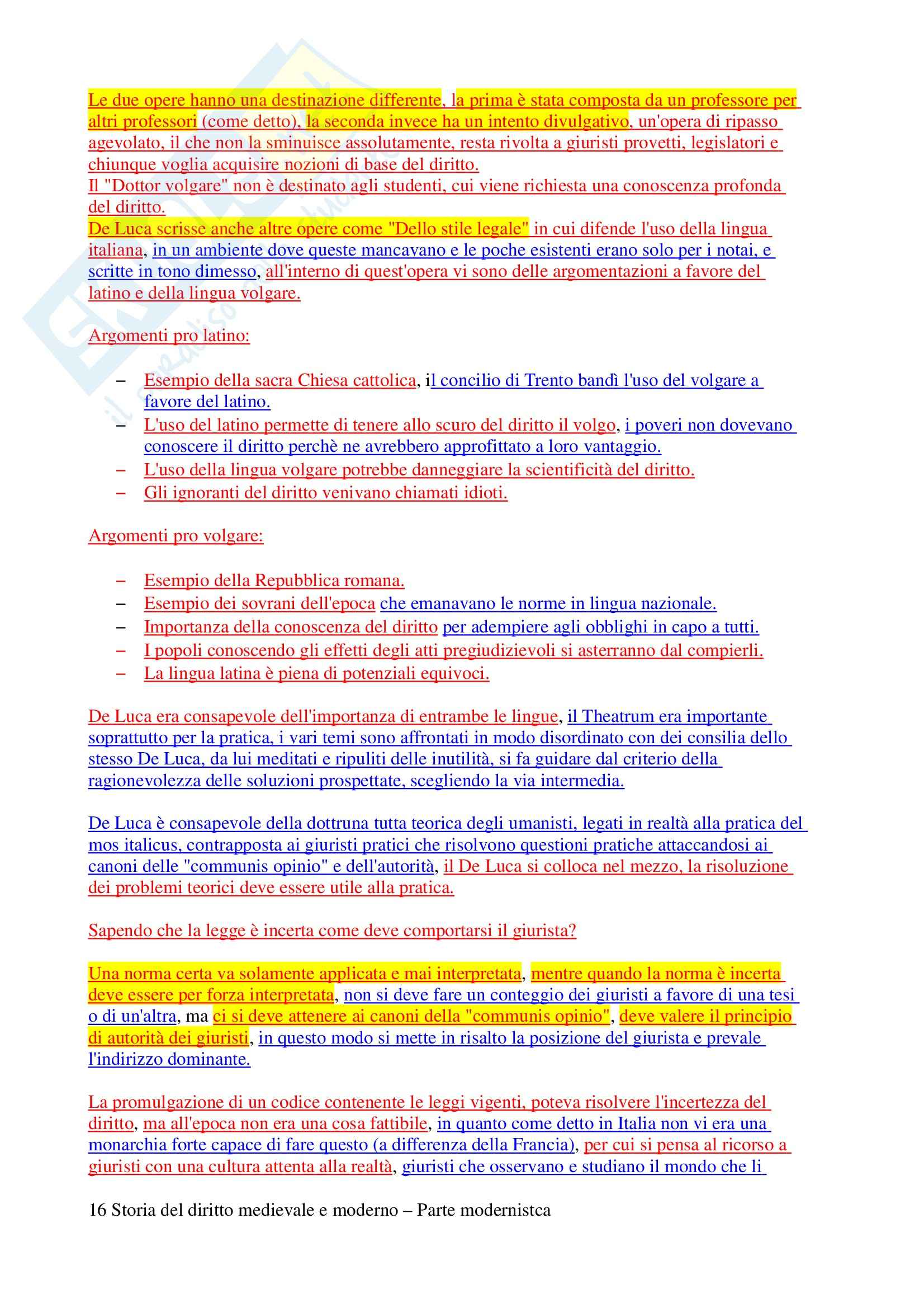 Storia del diritto medievale e  moderno - Domande e risposte Pag. 16