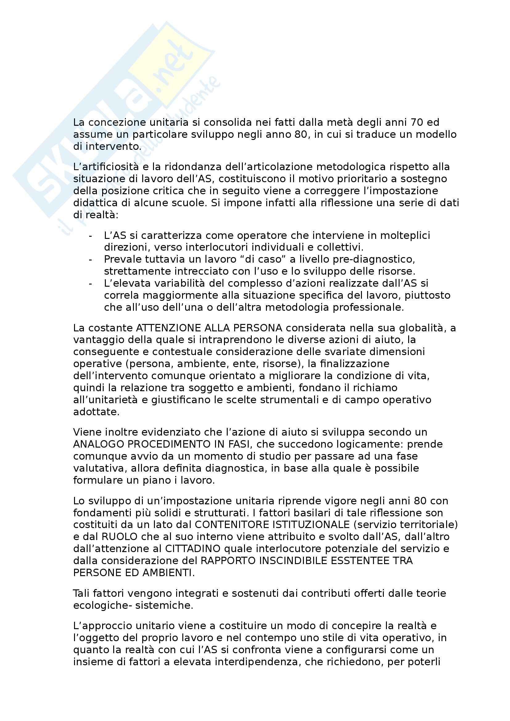 Riassunto esame Servizio sociale, prof. Palmieri, libro consigliato Le dimensioni dell'intervento sociale, Ferrario
