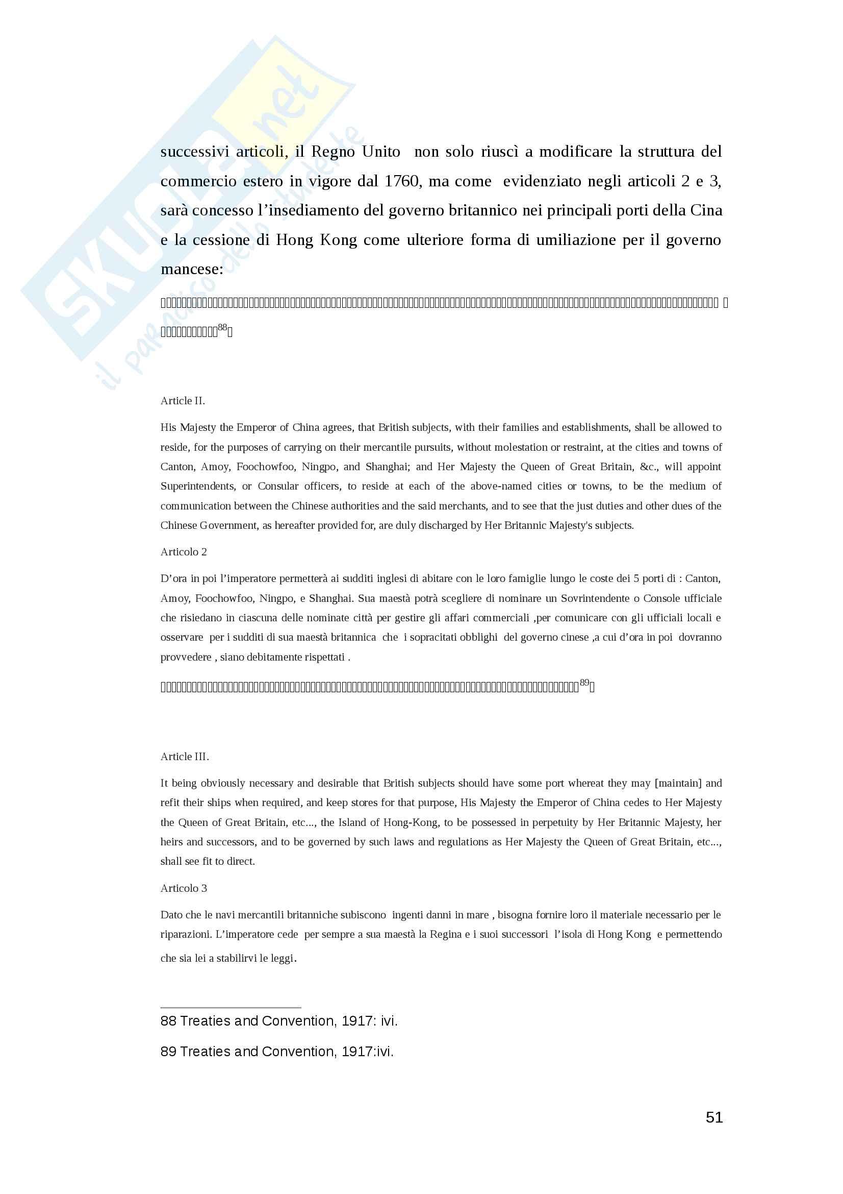 Tesi triennale -  Il Linguaggio della diplomazia Cinese nel XIX secolo Pag. 51