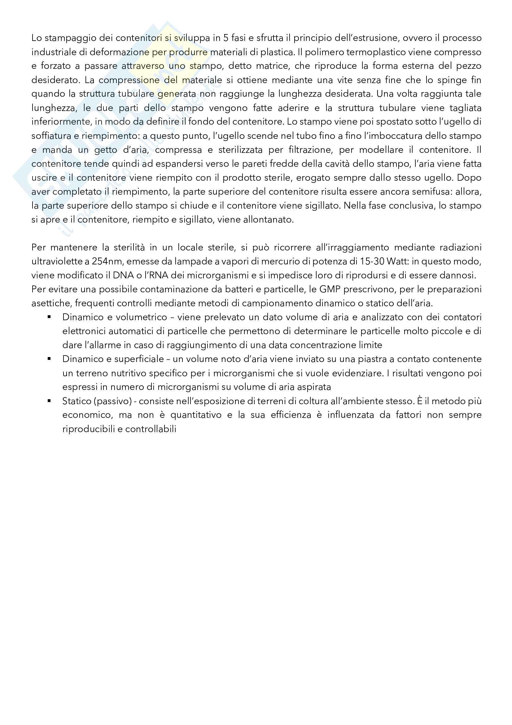 Argomenti principali di Tecnica ed Impianti della Produzione Farmaceutica Pag. 16