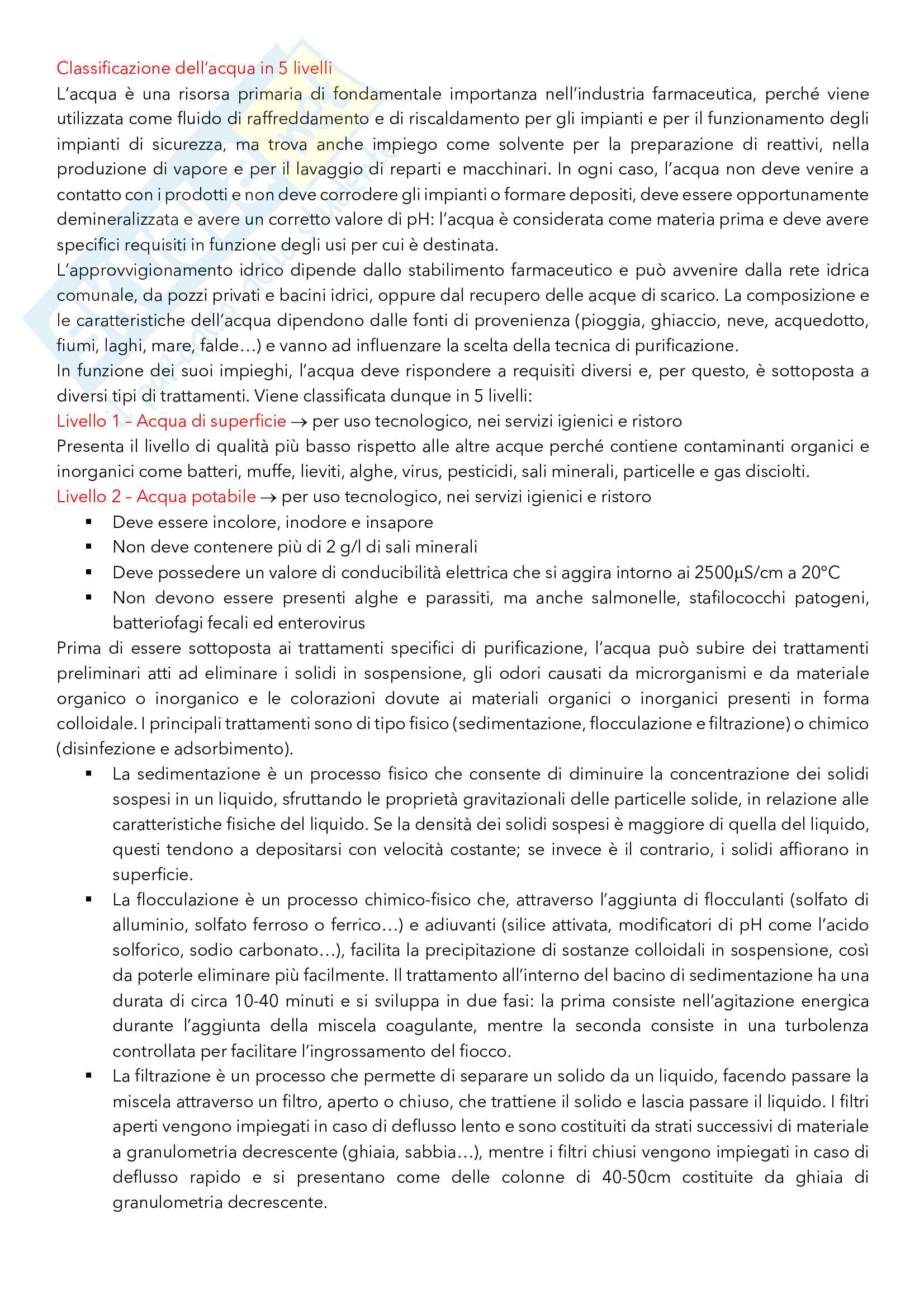 Argomenti principali di Tecnica ed Impianti della Produzione Farmaceutica Pag. 21