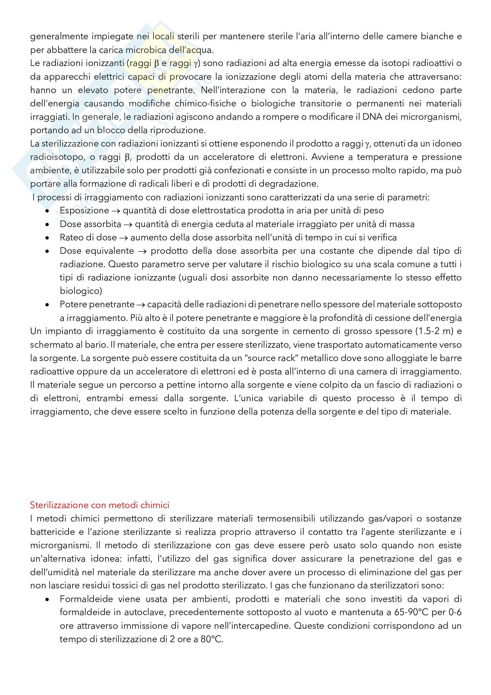 Argomenti principali di Tecnica ed Impianti della Produzione Farmaceutica Pag. 31