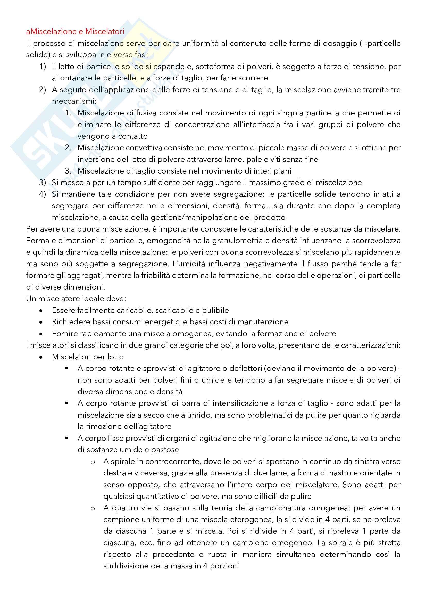 Argomenti principali di Tecnica ed Impianti della Produzione Farmaceutica Pag. 41