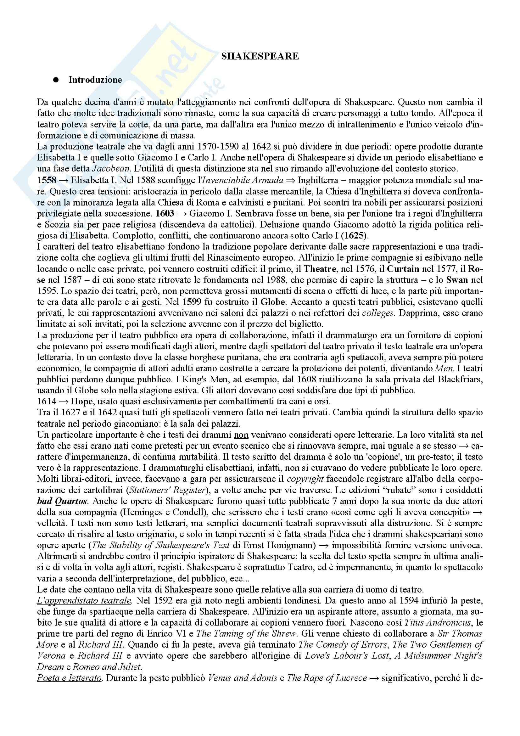appunto C. Vallaro Letteratura inglese