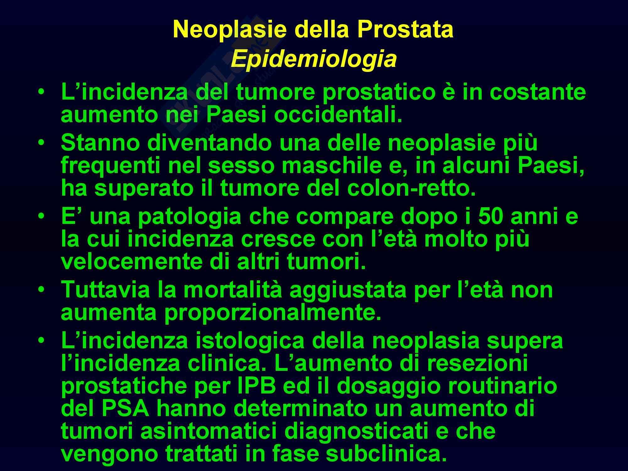 Oncologia medica - Tumore della prostata