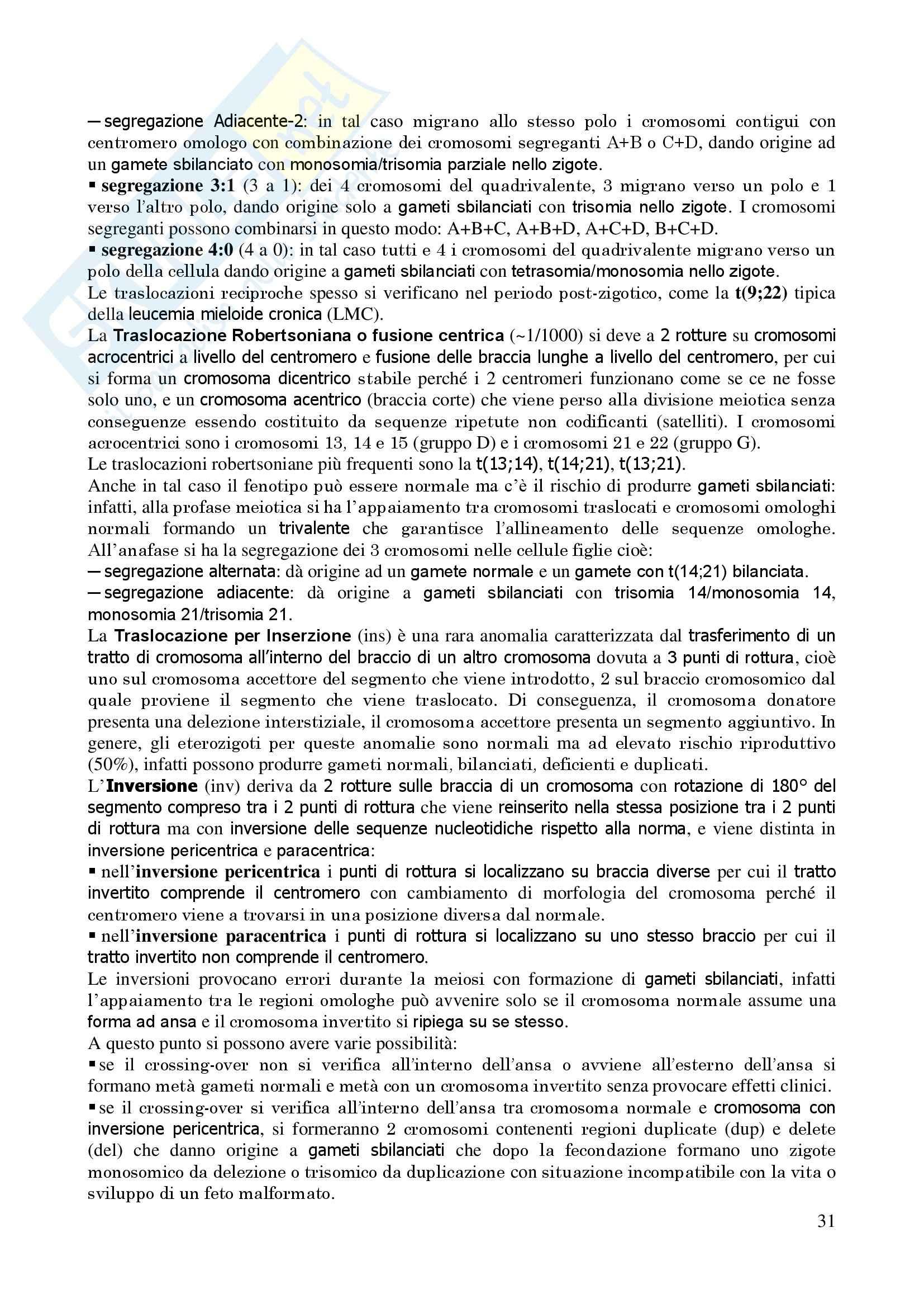 Genetica Umana - Appunti Pag. 31