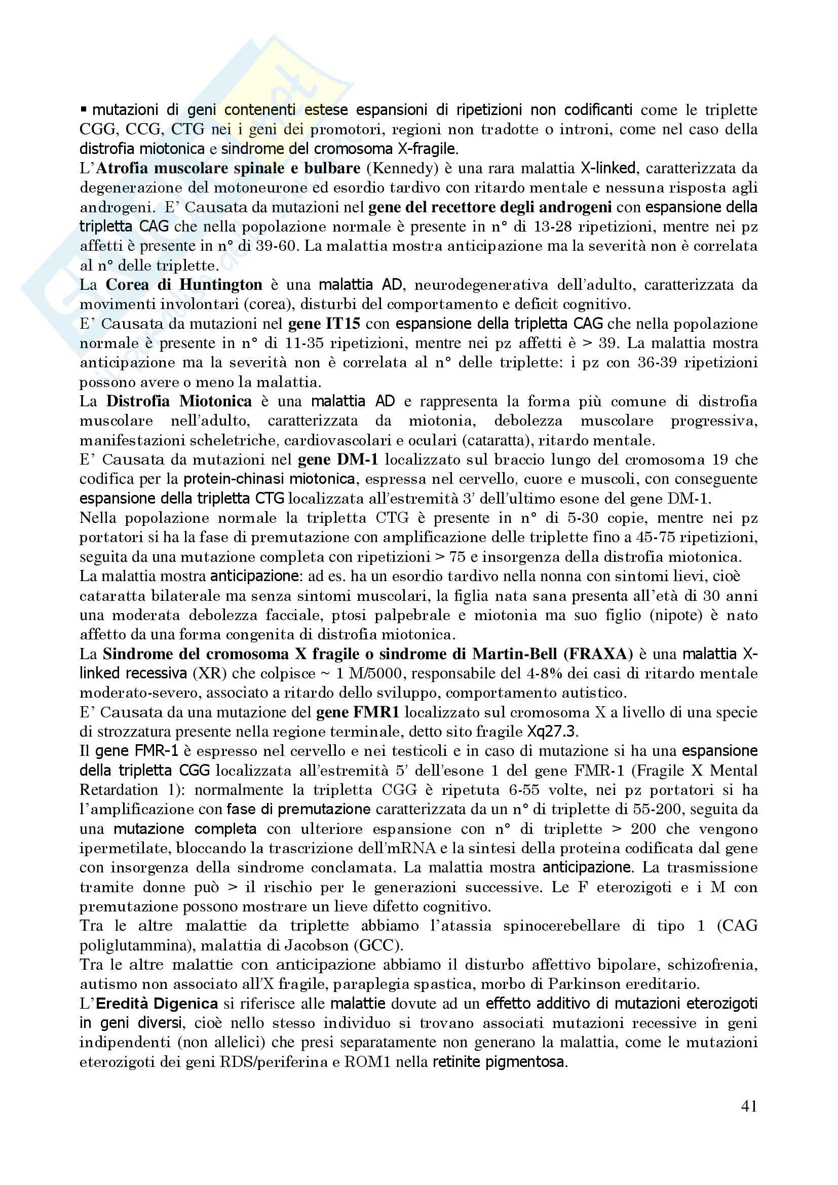 Genetica Umana - Appunti Pag. 41